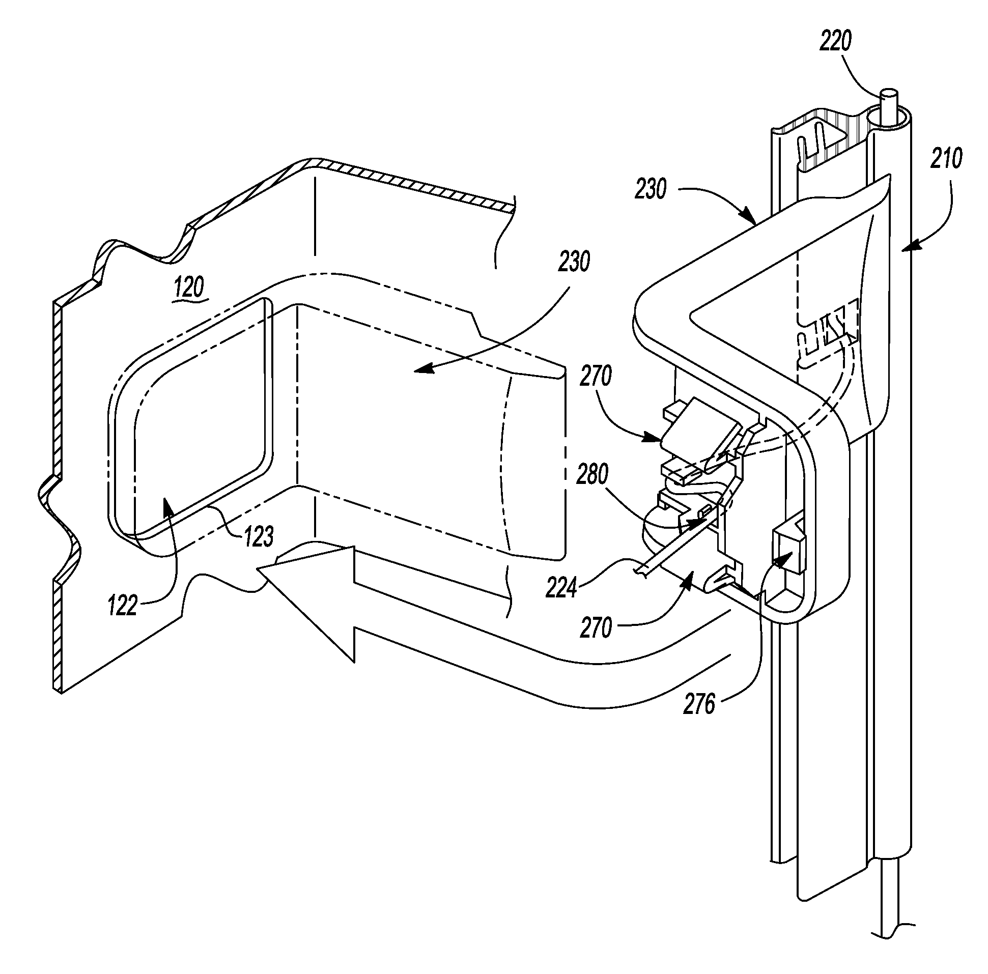patent us8348330 - wire harness protector and touch sensor assembly