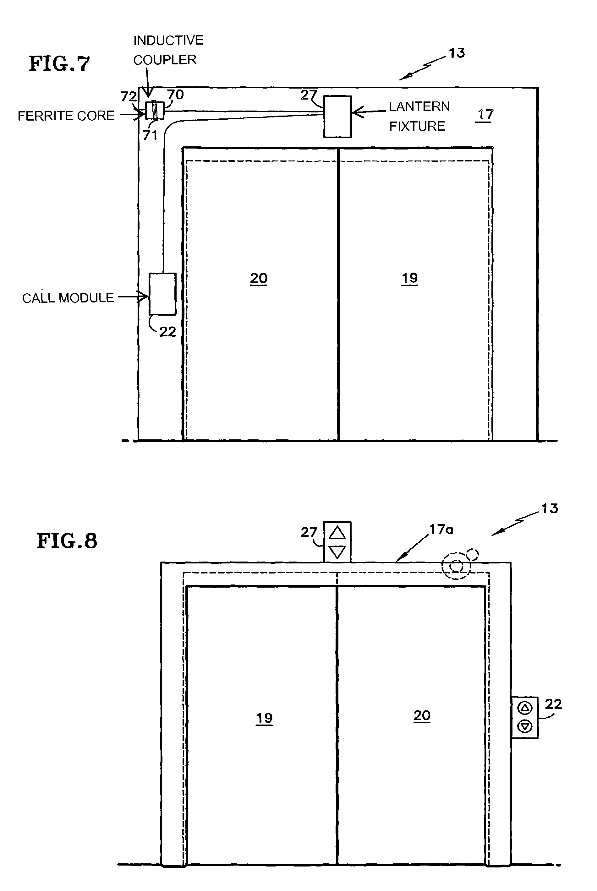 Front Elevation With Lift : Patent us wireless elevator hall fixtures