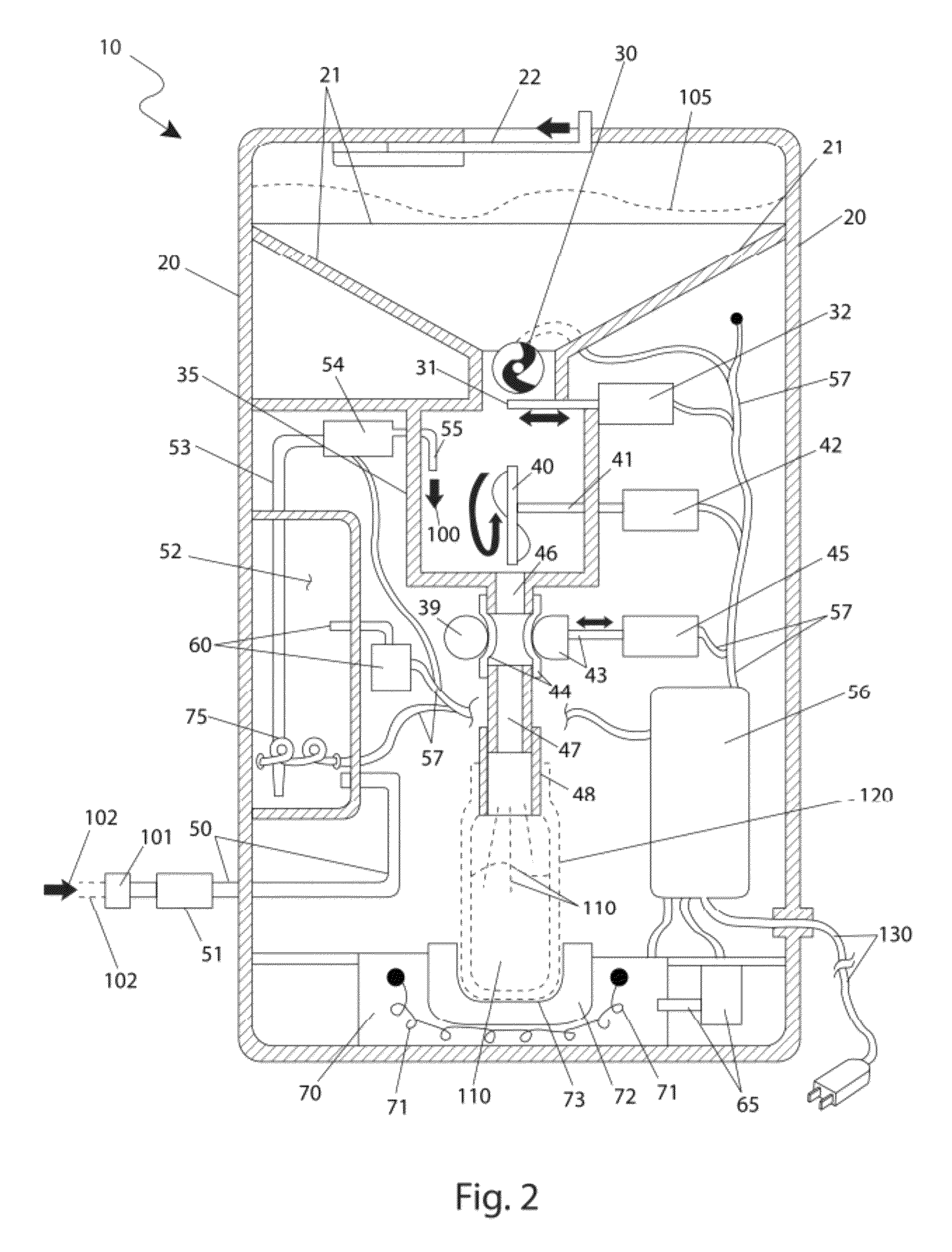 patent us8360279 - automatic baby formula preparation device