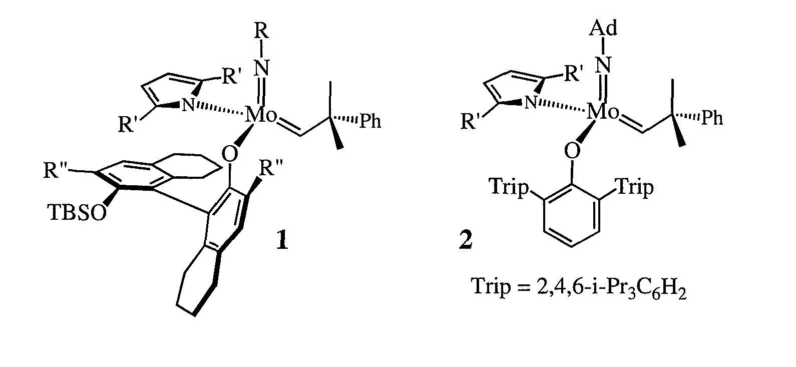 Schrock metathesis catalysts