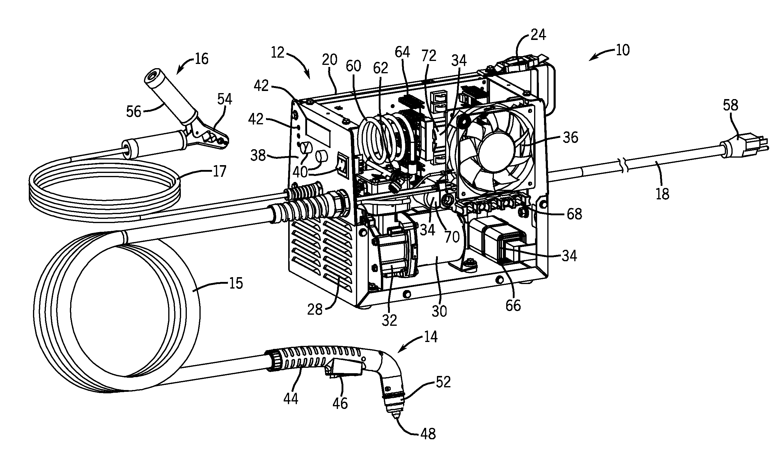 Patent Us8373084 Plasma Cutter Having High Power Density