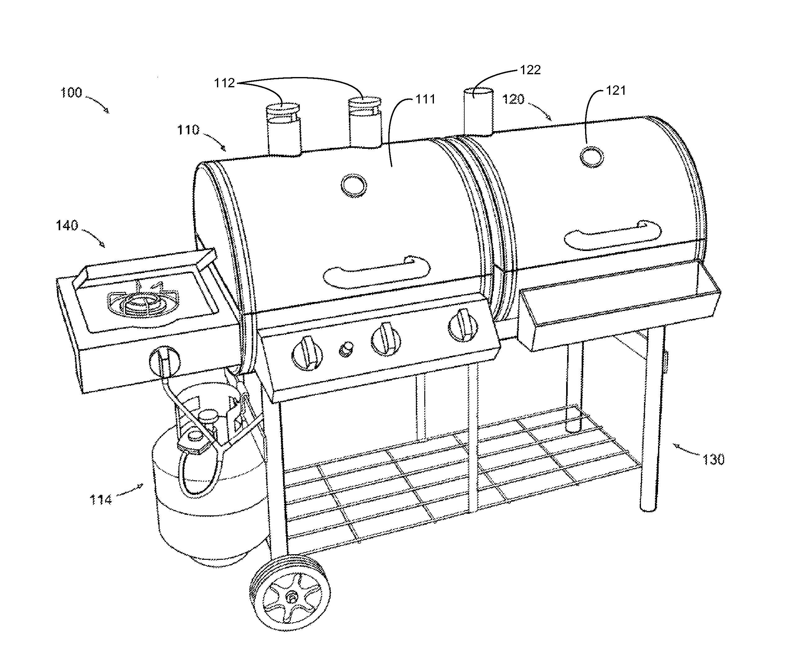 Patent Us8381712 Simultaneous Multiple Cooking Mode Barbecue Grill Traeger 100 Wiring Diagram Drawing