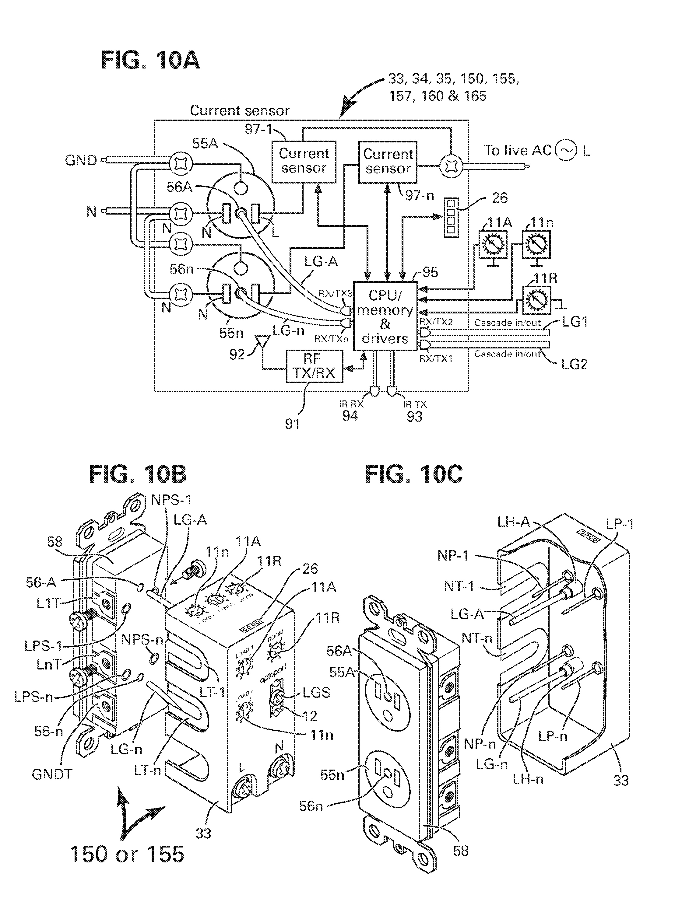 Patent Us8384249 Method And Apparatus For Combining Ac Power Relay Spa Air Switch Dpdt Wiring Diagram Drawing