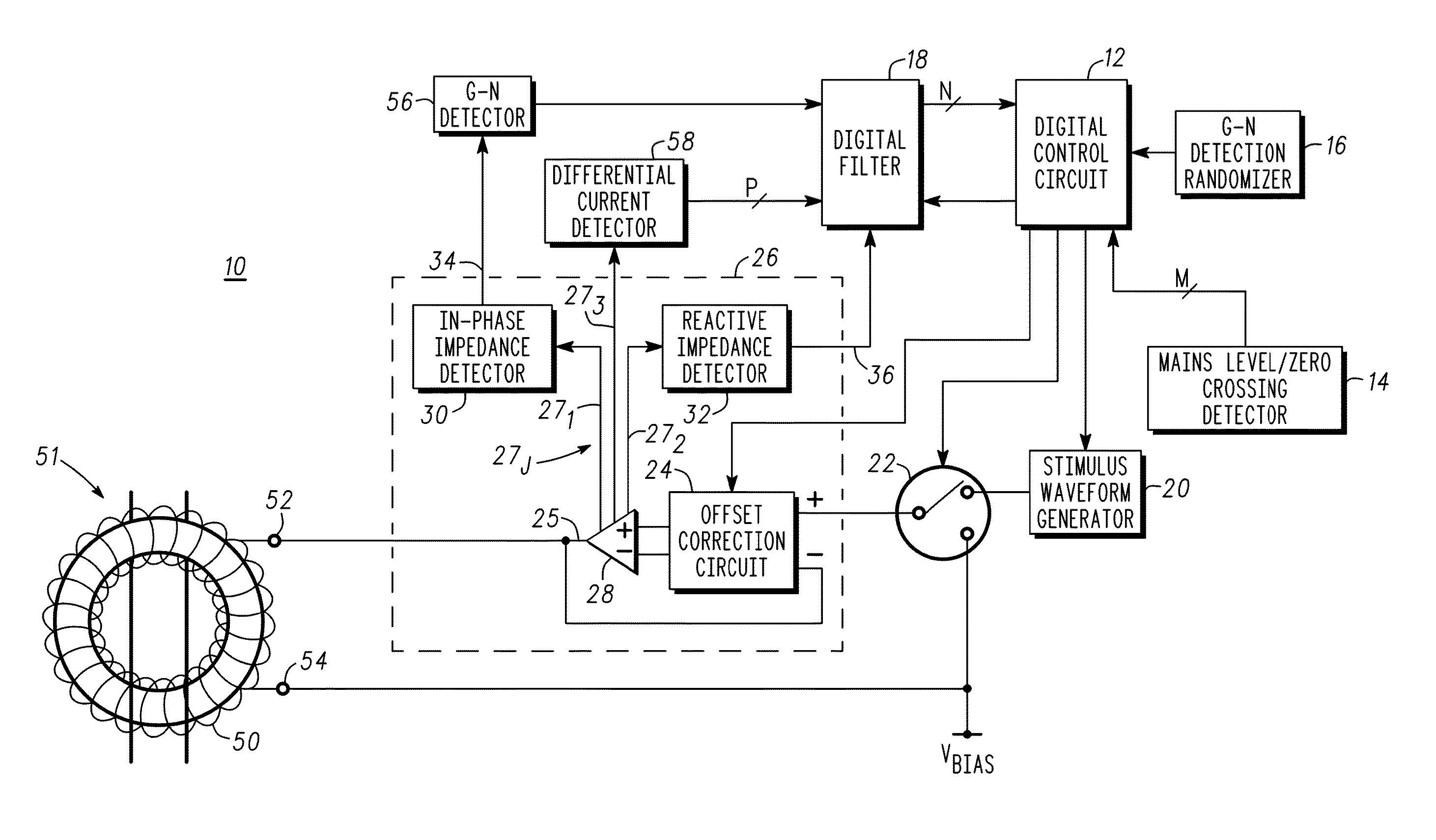 patent us8390297 - ground fault circuit interrupter and method