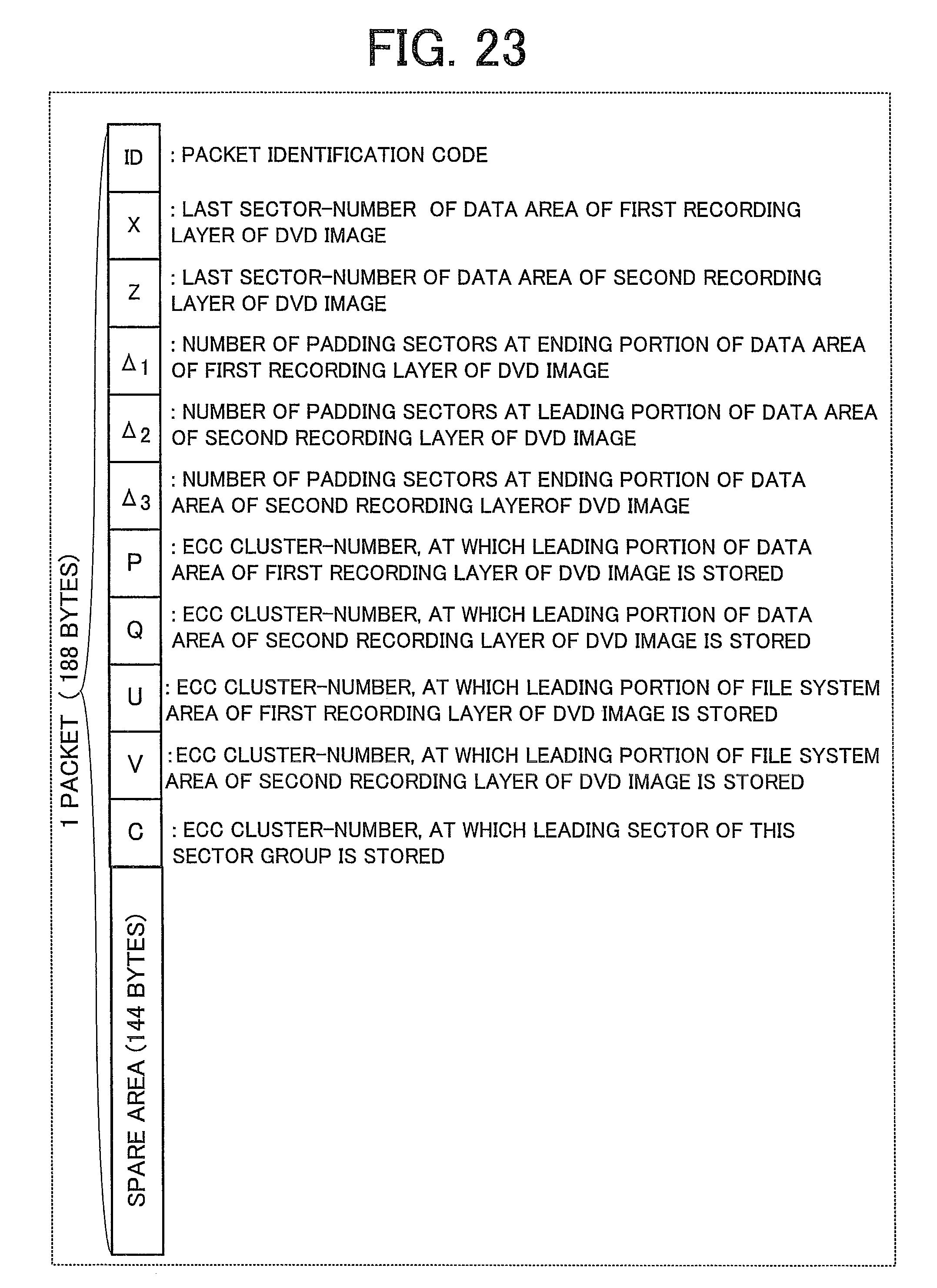Patent US8422850  Information recording apparatus information