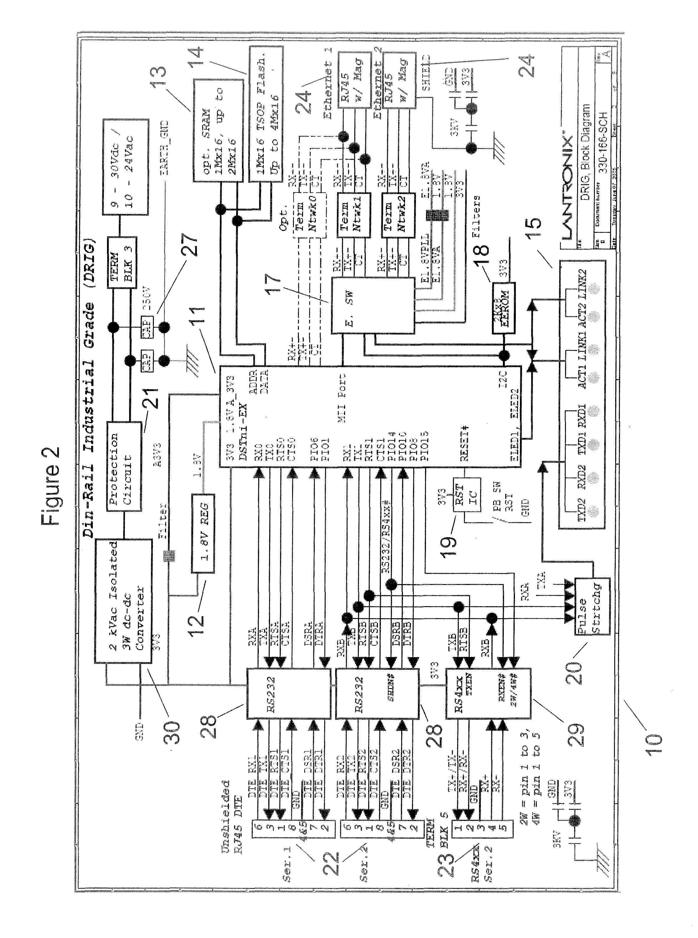 Rs485 Repeater Star Network Wire Diagram 40 Wiring Images Ethernet To Schematic Us08428054 20130423 D00002 Patent Us8428054 Daisy Chaining Device Servers Via Connector At Highcare