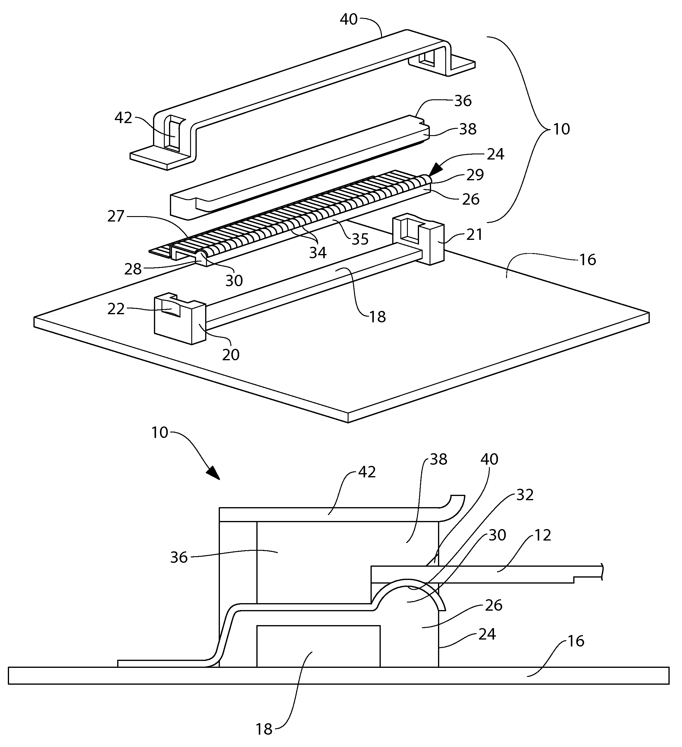 patent us8430684 - ribbon cable connector