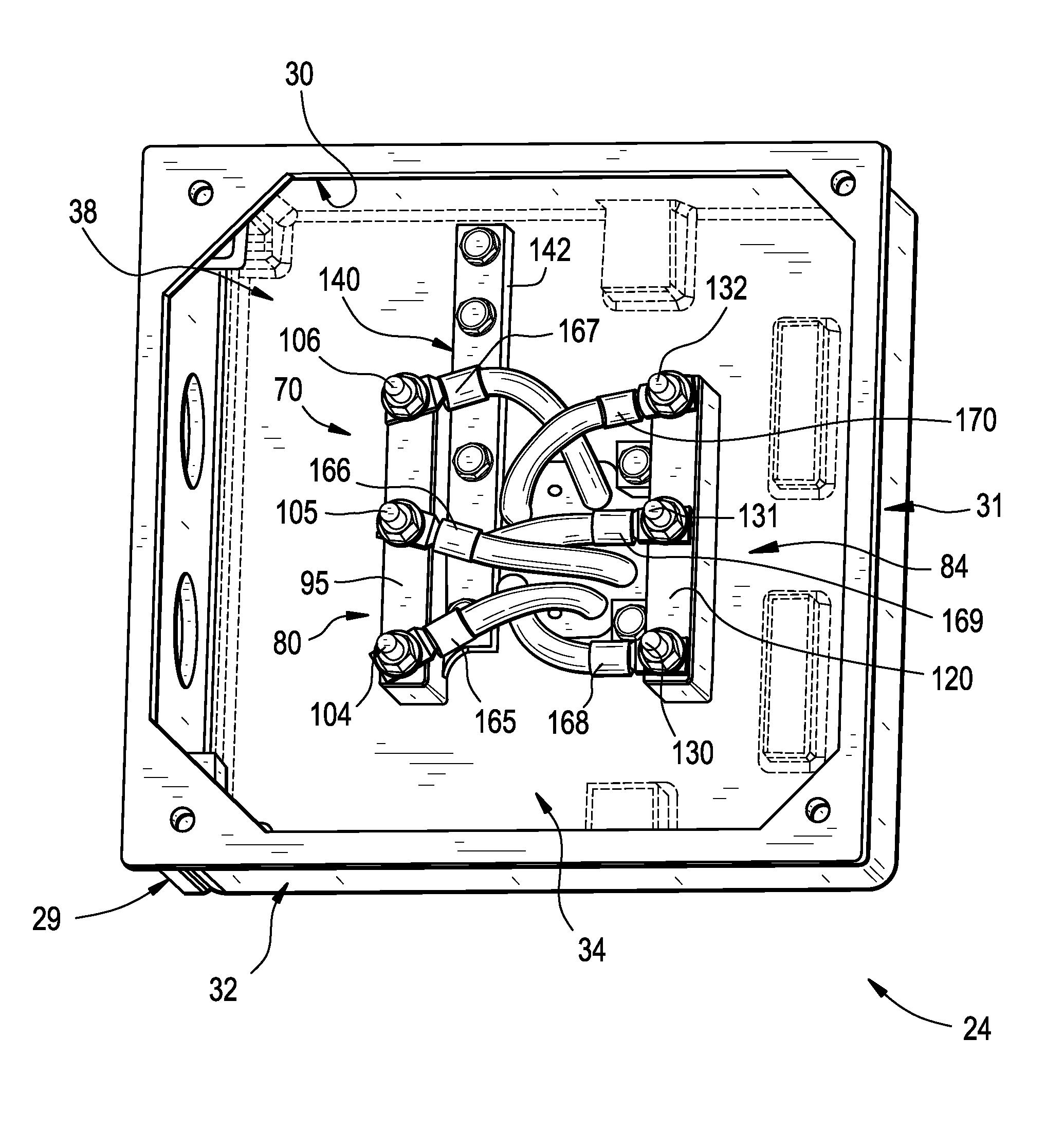 Patent us8446058 electric motor terminal block assembly for Electric motor terminal blocks
