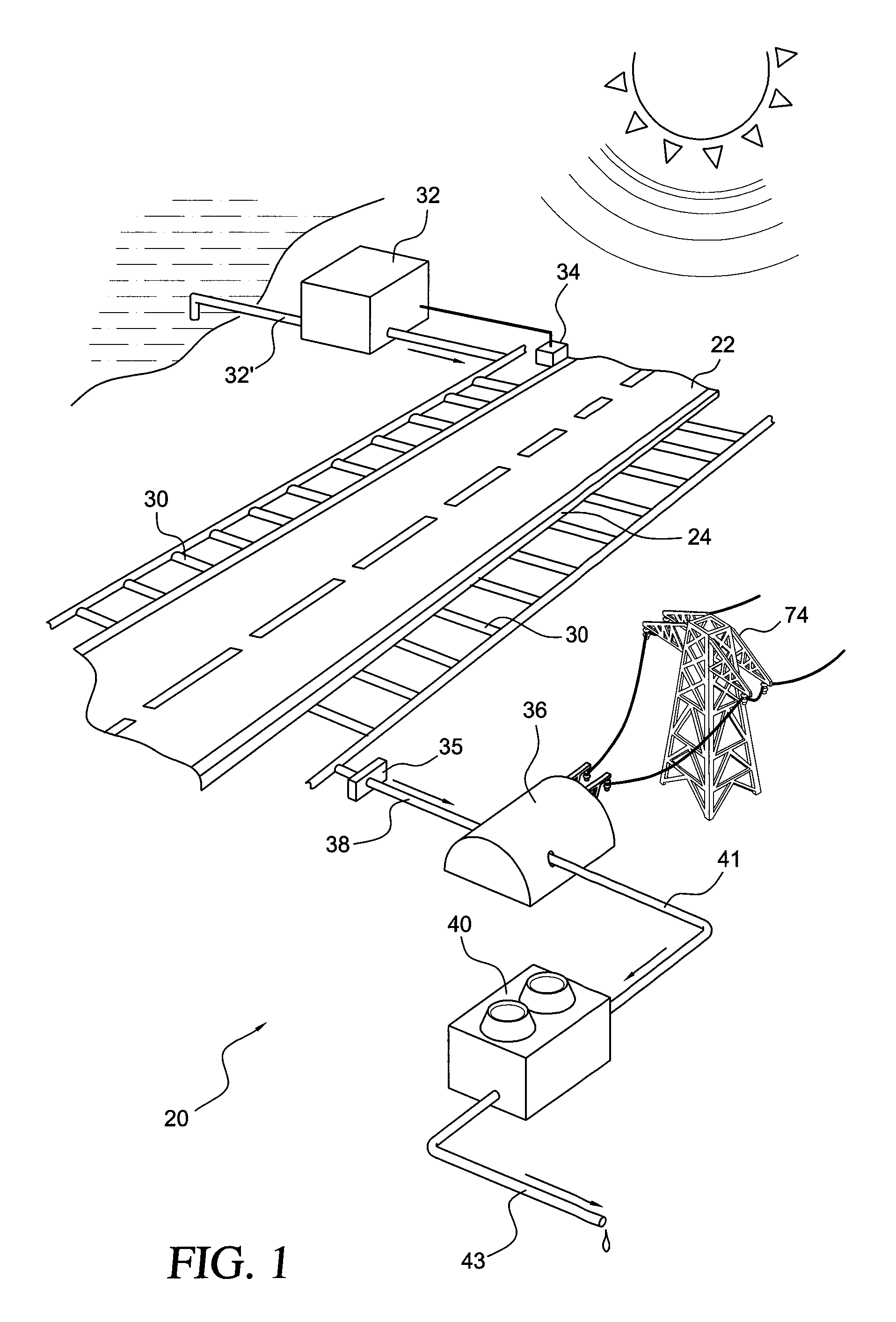 us8449726 solar thermal system for the partial Solar Panel Roadways Currently patent drawing