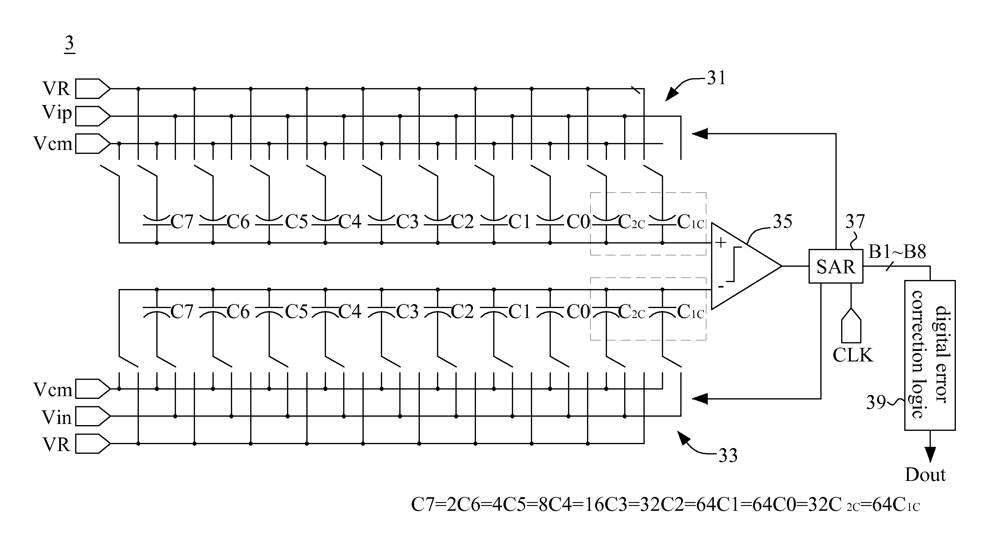 Us8451151 Successive Approximation Analog To Approximate Adc Circuit Diagram Patent Drawing