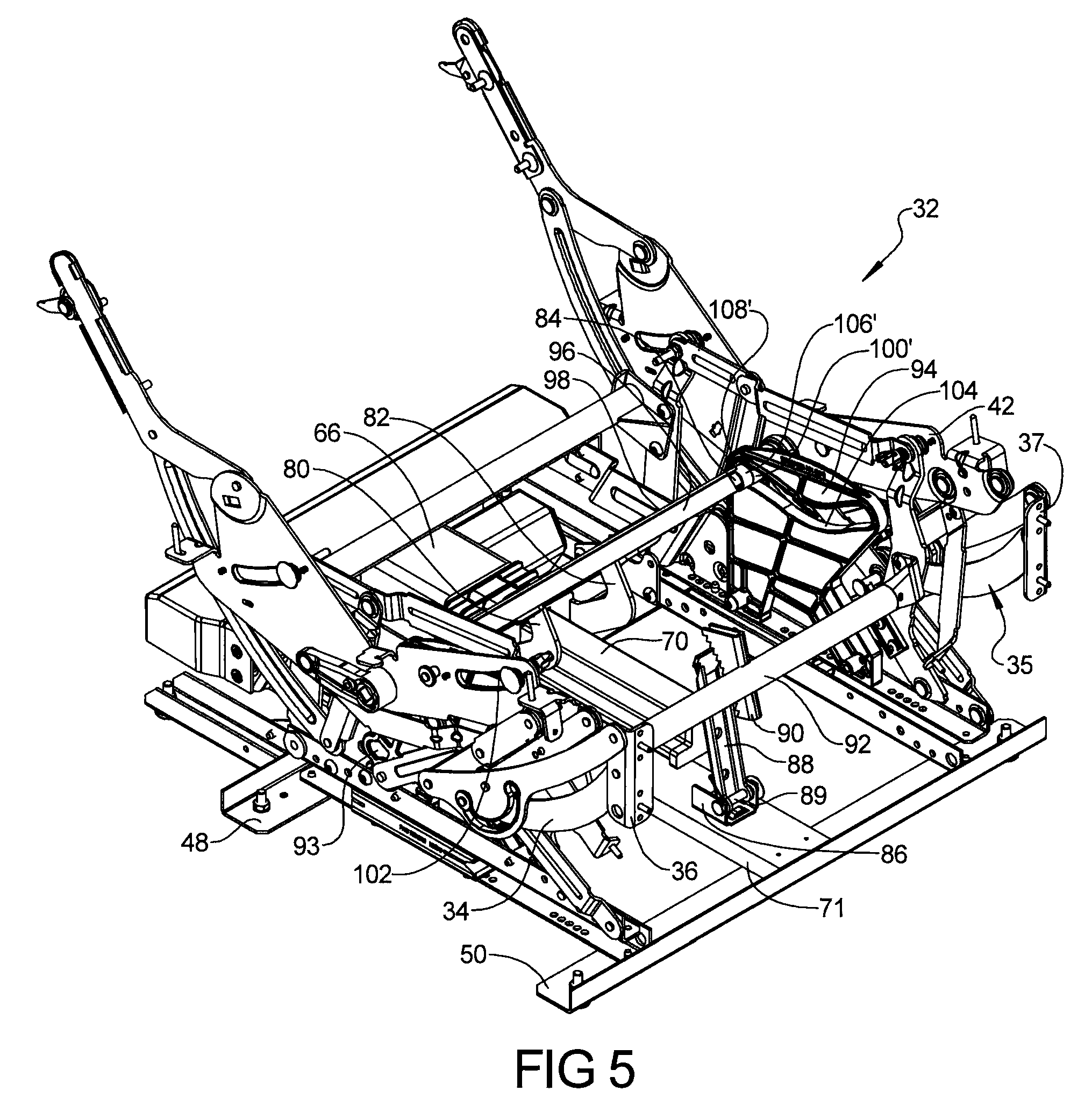 Patent Us8459732 Power Actuated Rocking Furniture