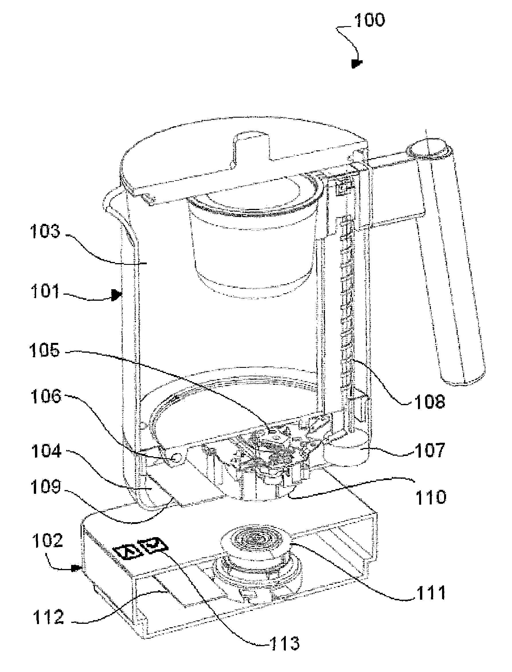 Kettle Plug Wiring Diagram : Patent us cordless kettle with data communication