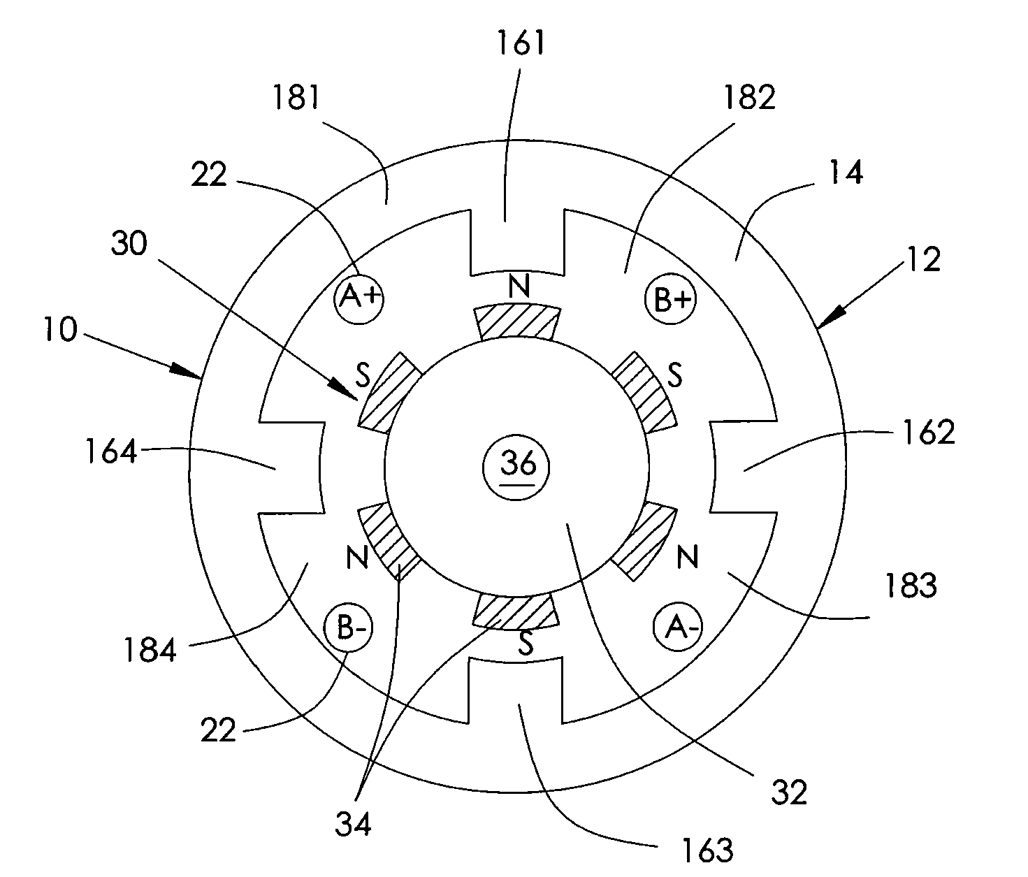 Patent Us8487567 Two Phase Bldc Motor Google Patents