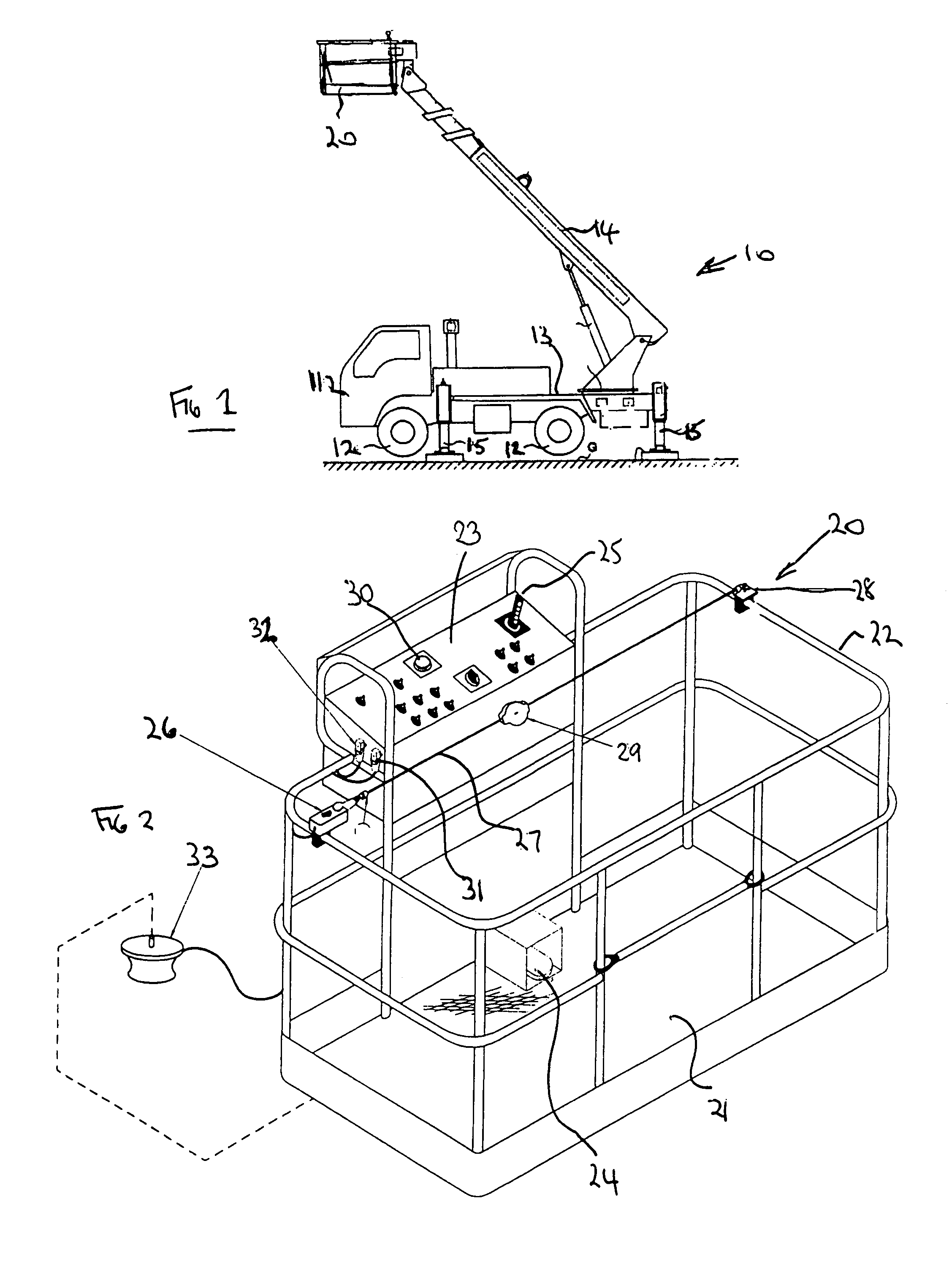 patent us8490746 - aerial lift with safety device