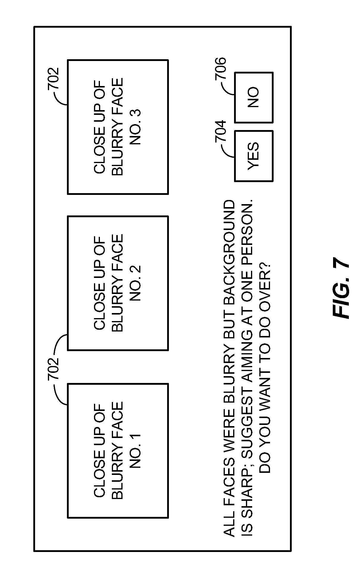 Patent US8498486 - Response to detection of blur in an image