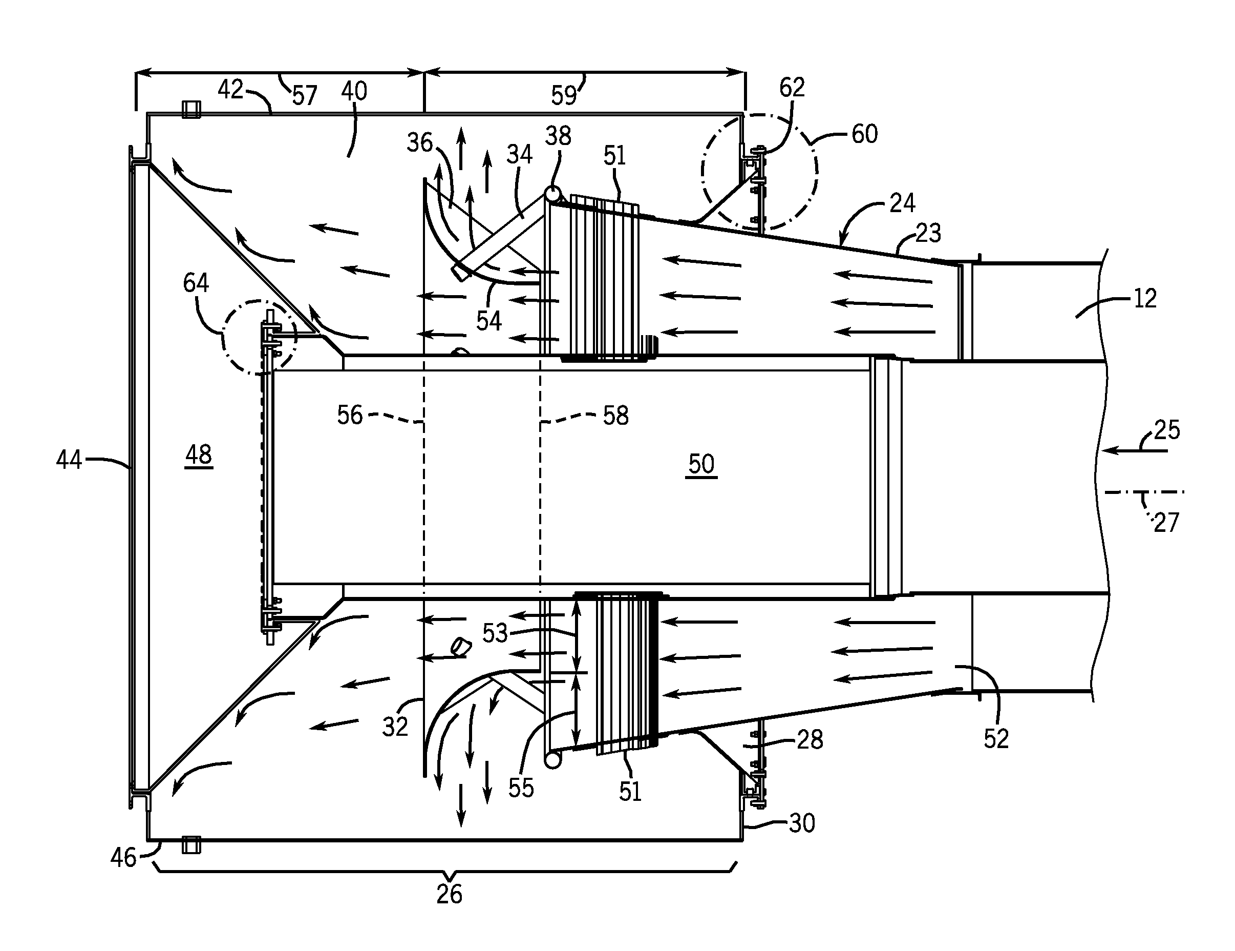 Brevet Us8511984 Gas Turbine Engine Exhaust Diffuser And Collector Jet Diagram Of An Axialflow Patent Drawing