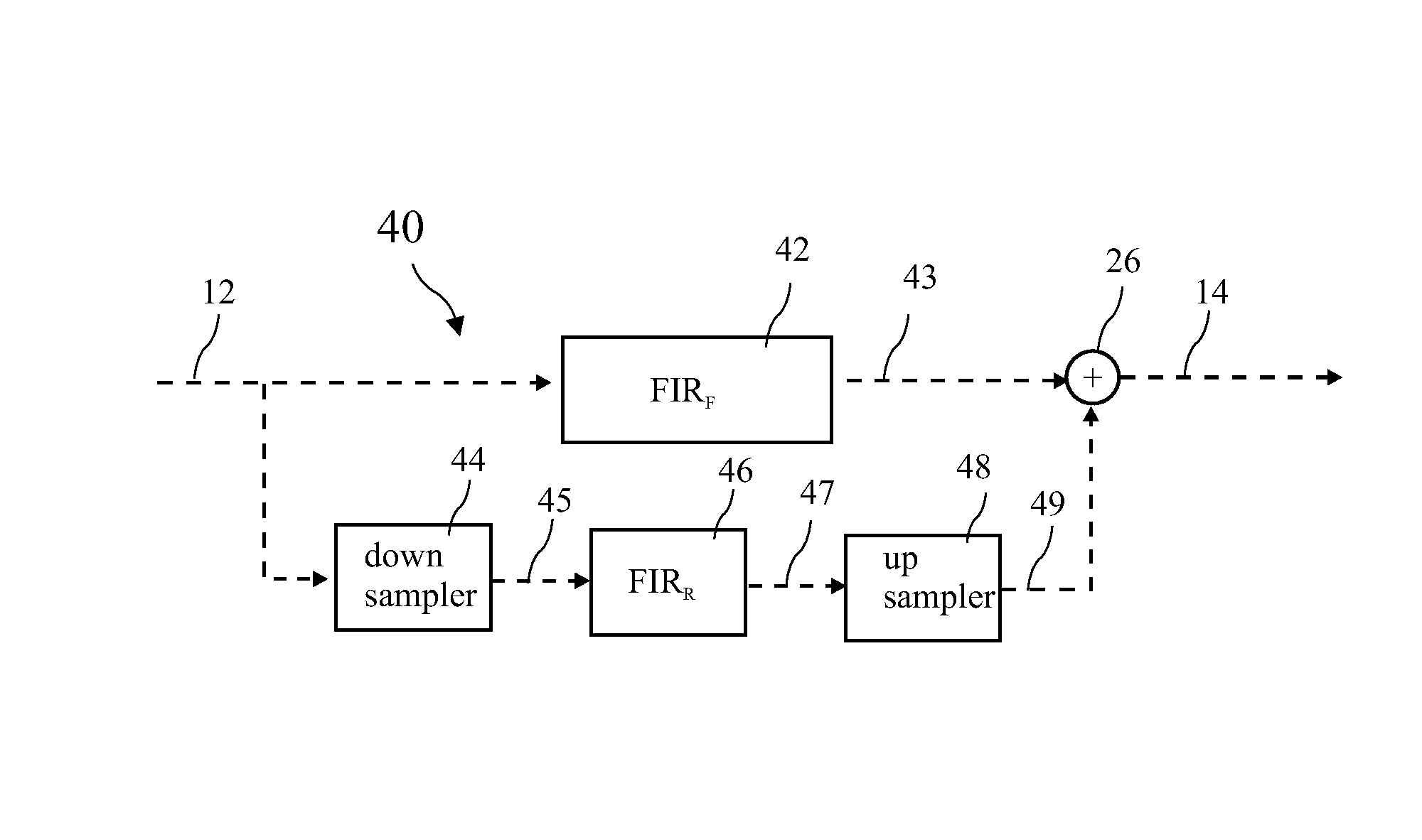 Patent Us8539012 Multi Rate Implementation Without High Pass Filter Circuit Diagram Drawing