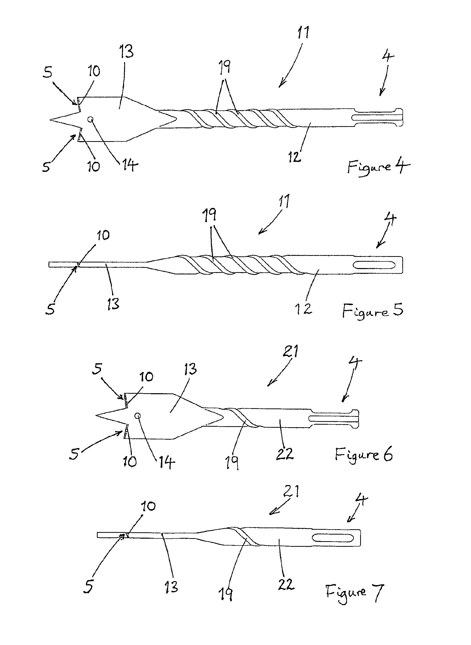 Patent US8545140 - Drill bit - Google Patents