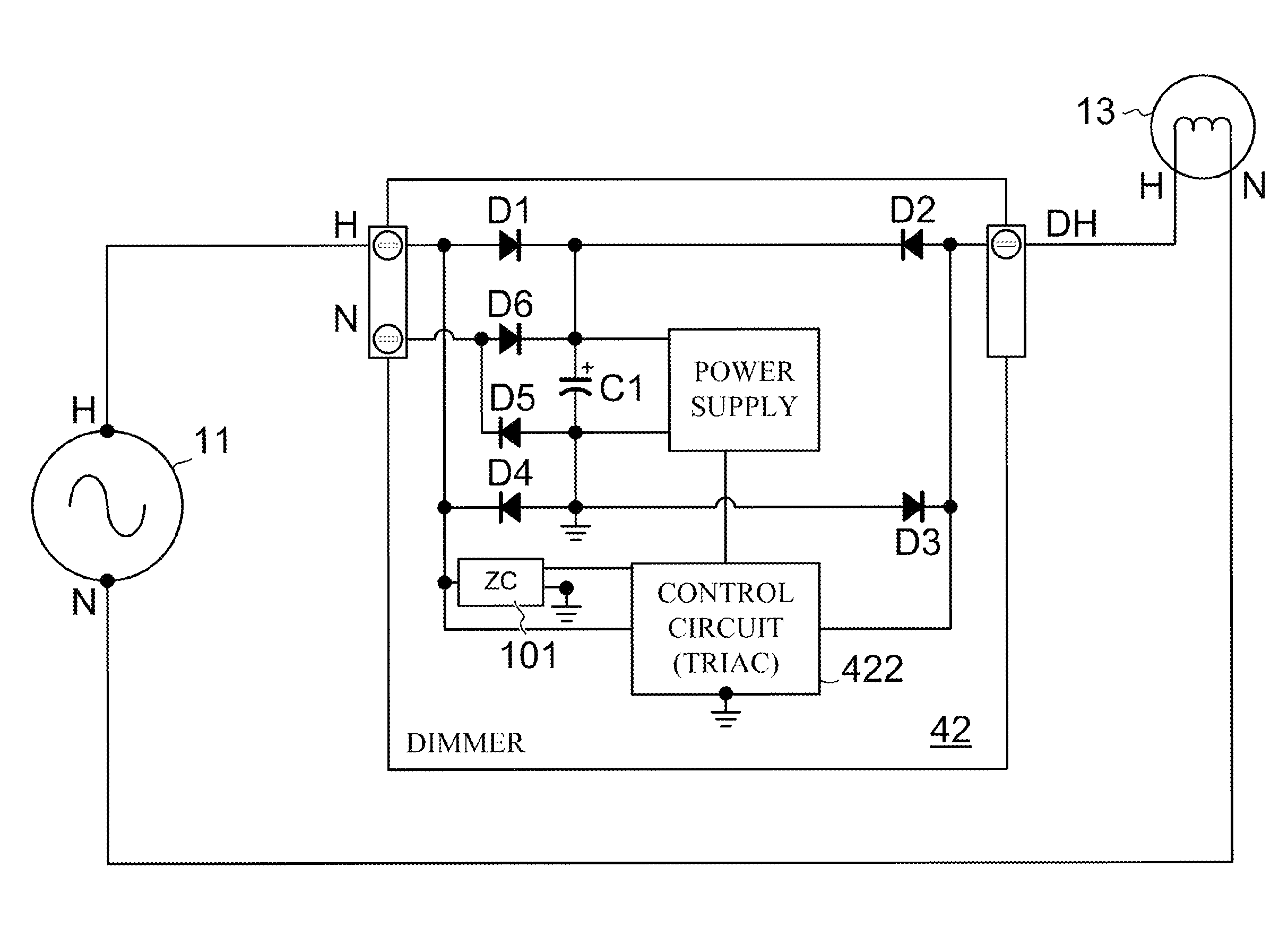 Patent Us8547035 Dimmer Adaptable To Either Two Or Three Active Below Is A Single Pole Switch Controlling Flourescent Light Drawing