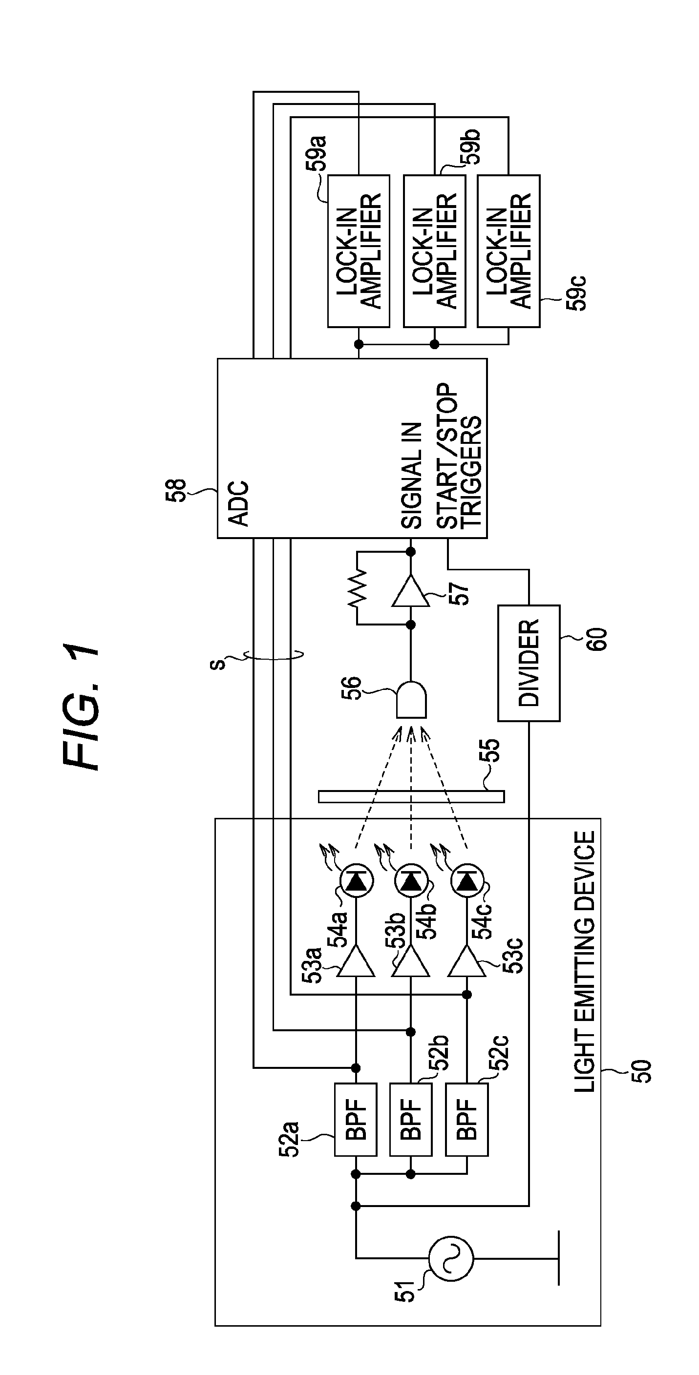 Patent Us8547544 Multichannel Photometric Measurement Apparatus Lockin Amplifierj Drawing