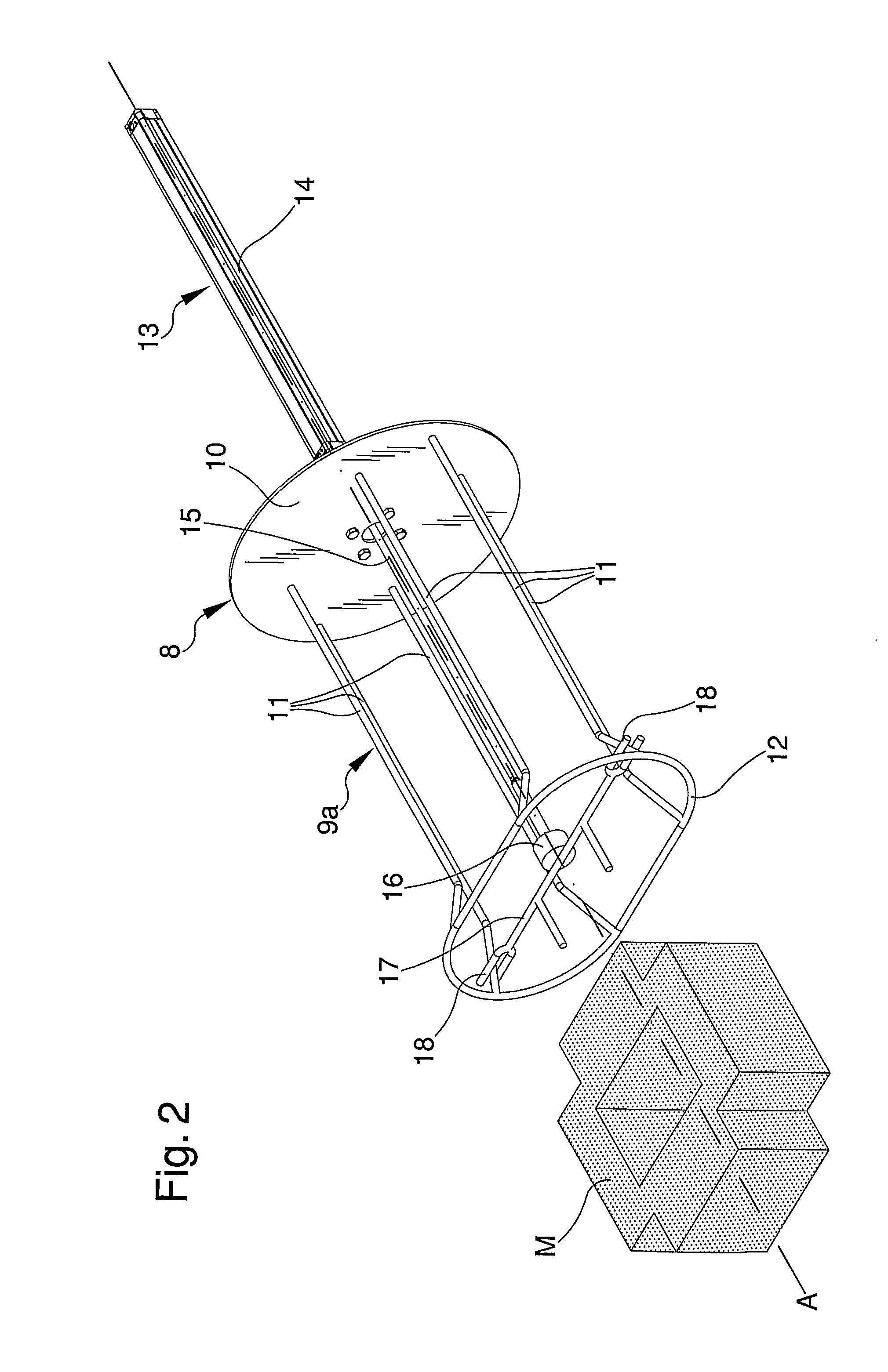 patent us8562393 shot blasting machine for surface treatment of Glass Machine patent drawing