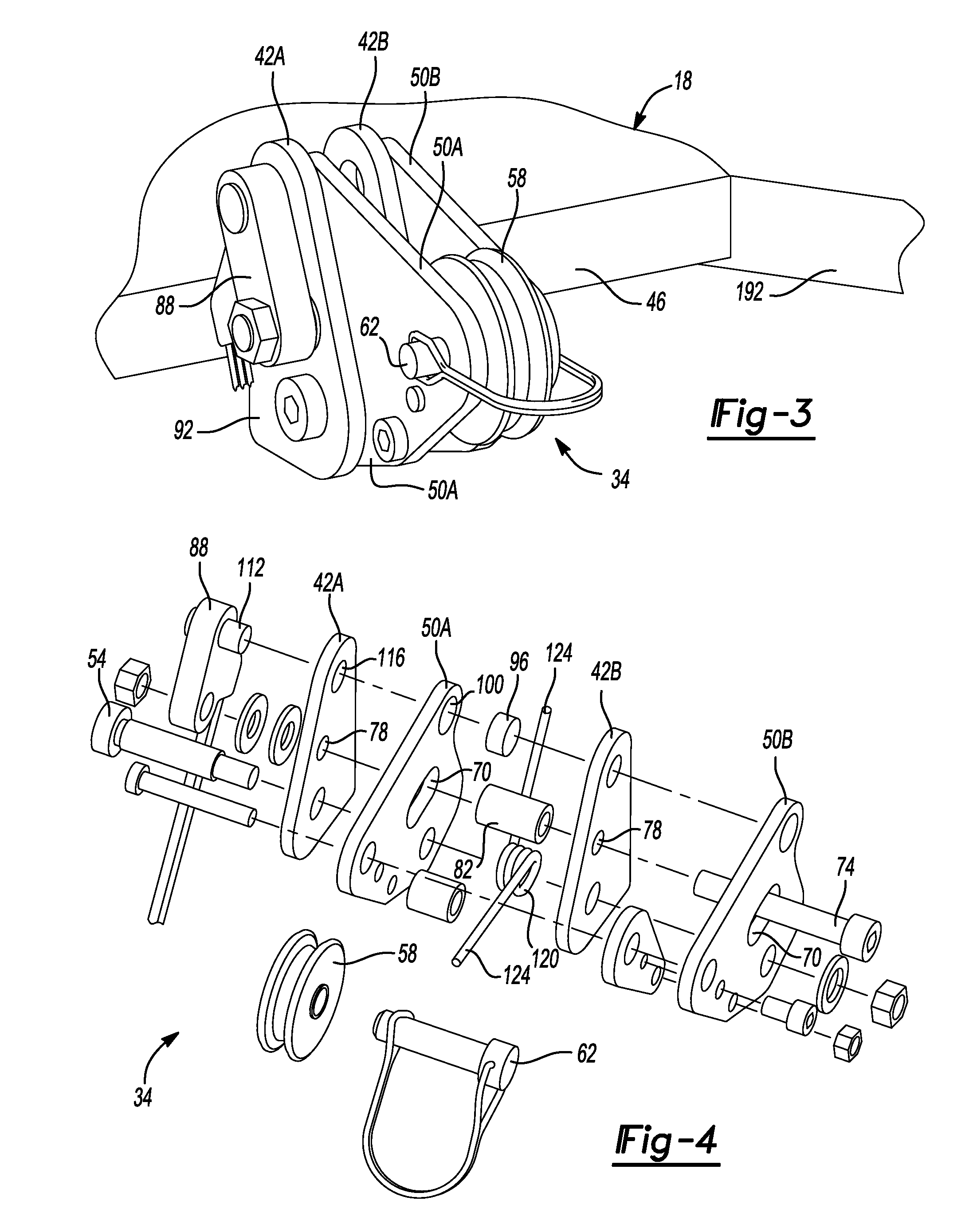 patent us8585021 slack rope and lift control for use with plow Mini 12V Winch patent drawing