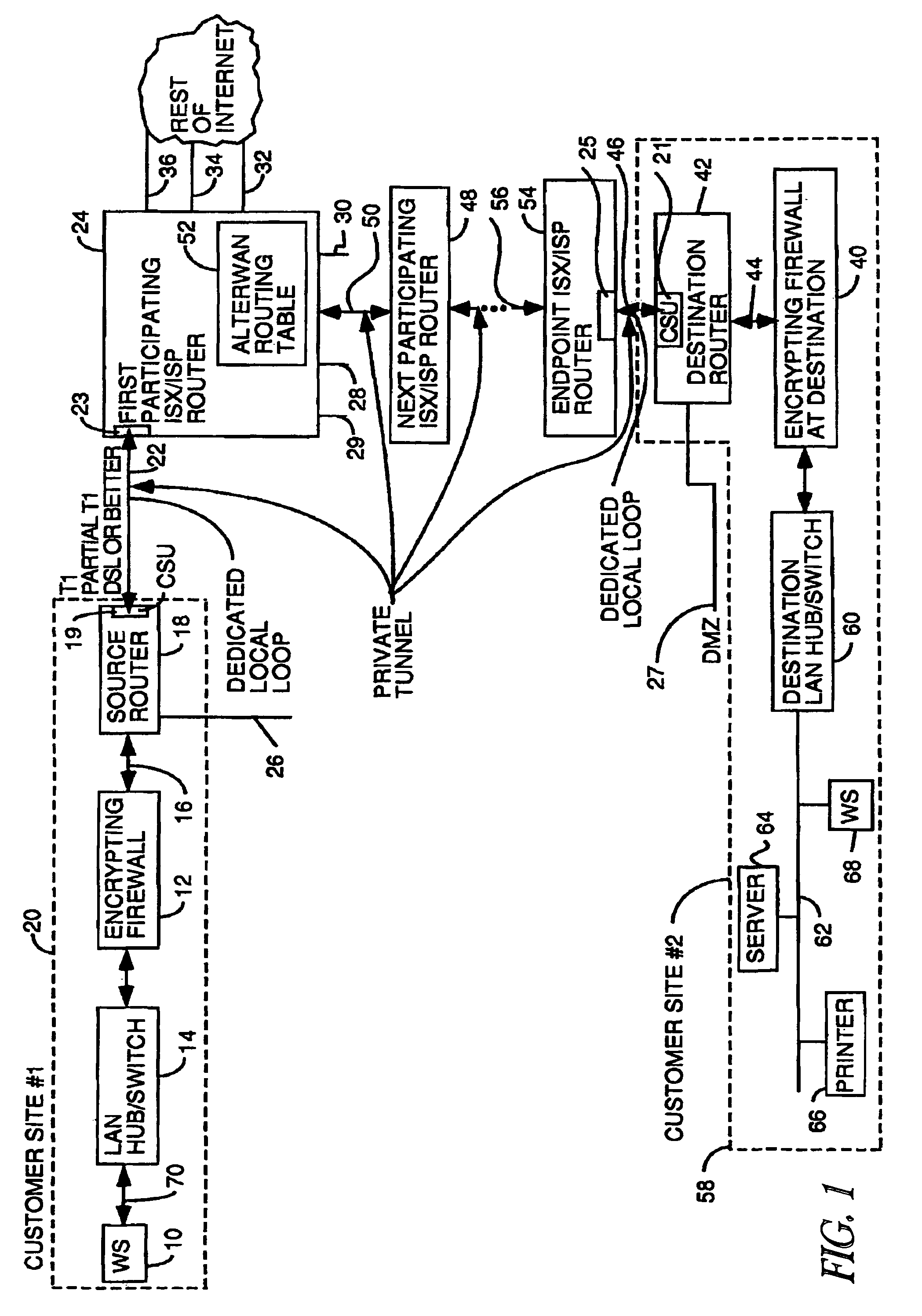 Patent US8595478 - Wide area network with high quality of service