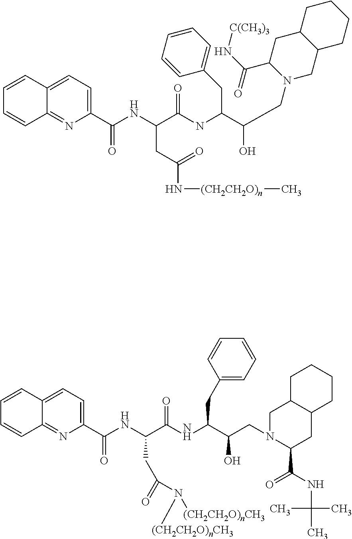 Patent US8598364 - Oligomer-protease inhibitor conjugates