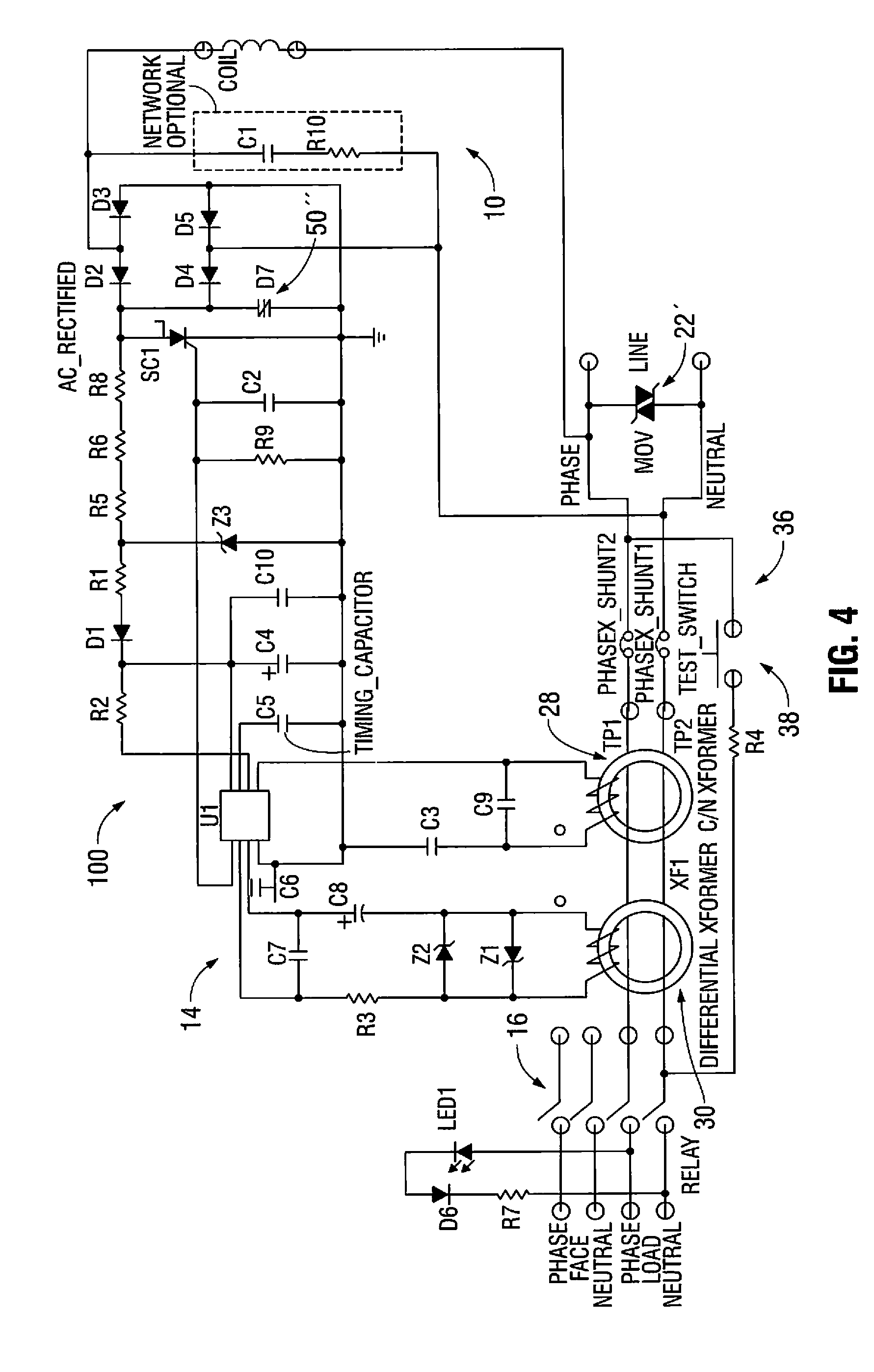 Patent Us8599522 Circuit Interrupter With Improved Surge Breaker Moreover Ground Fault Gfci Drawing