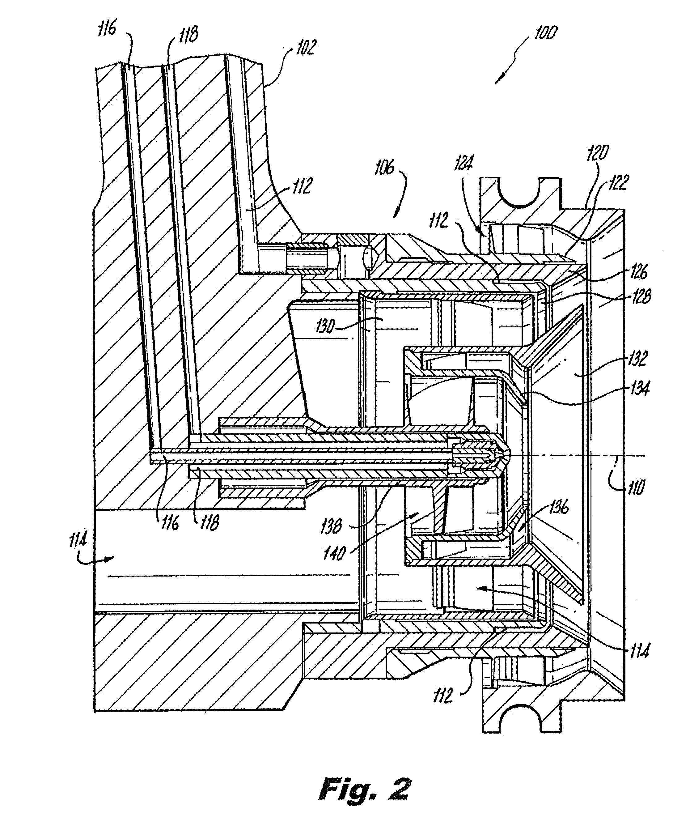 Patent US Lean burn injectors having a main fuel circuit