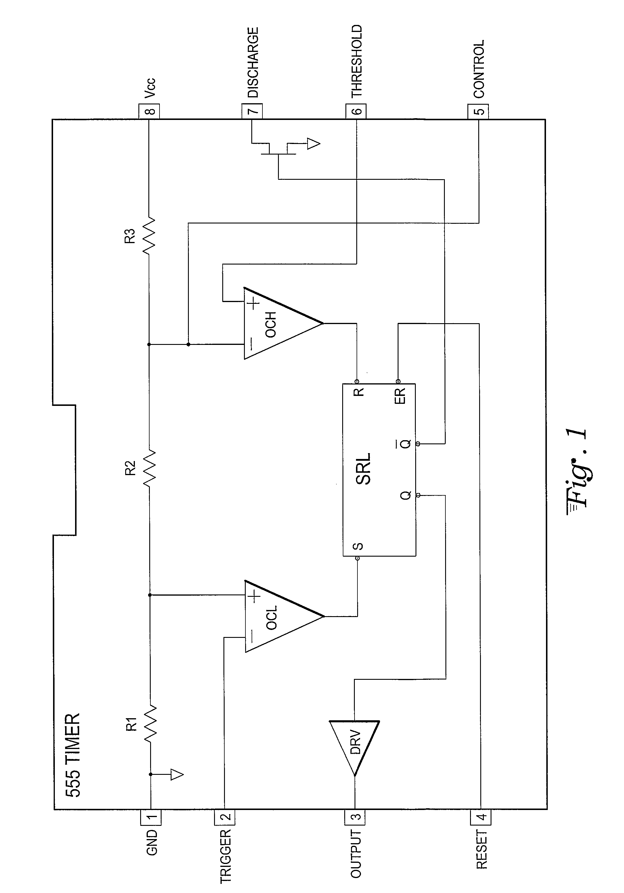 Patent Us8614595 Low Cost Ultra Versatile Mixed Signal Controller The Above Schematic Shows 555 Timer Bistable Multivibrator Circuit Drawing