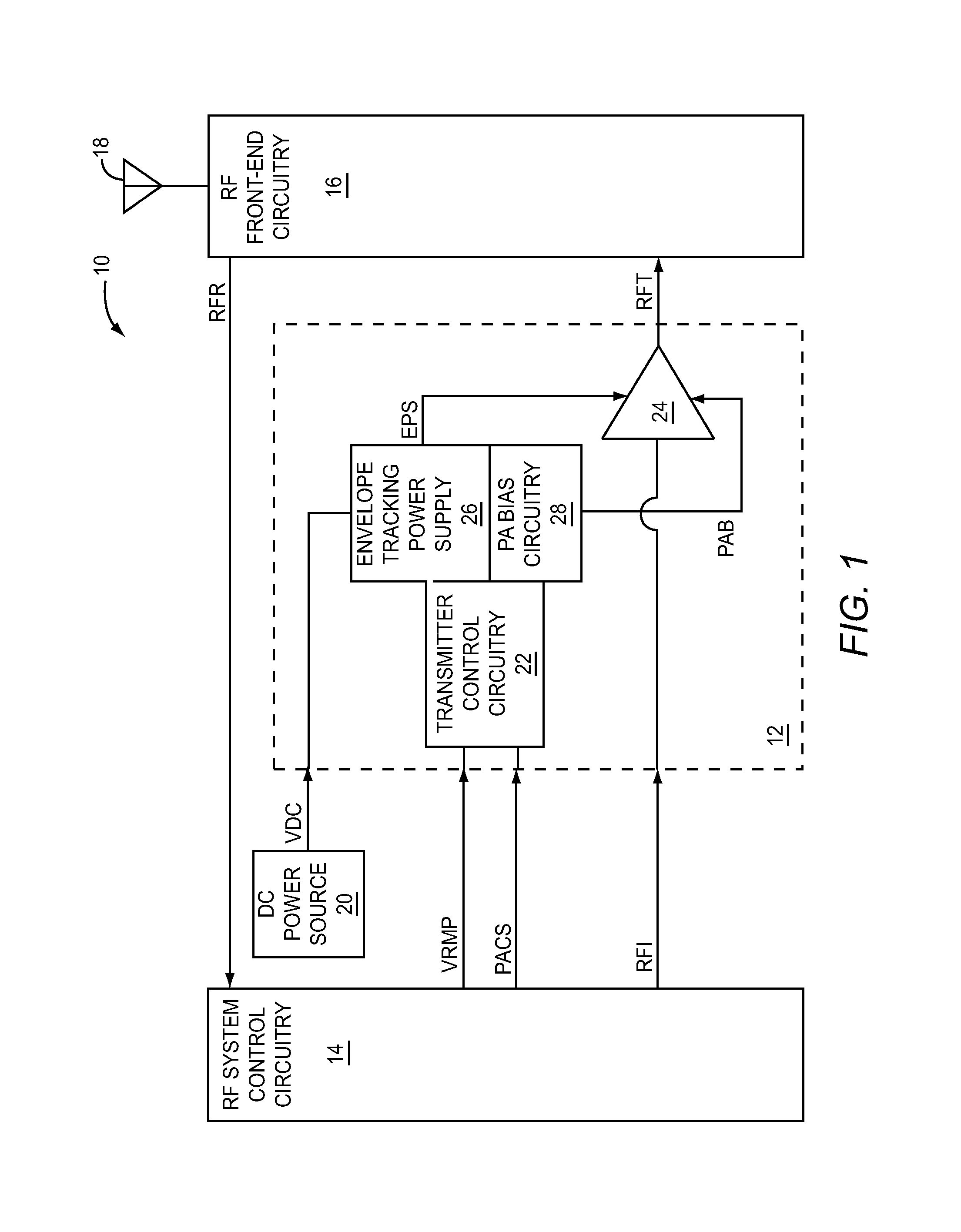 Patent Us8626091 Envelope Tracking With Variable Compression Follower Schematic Drawing