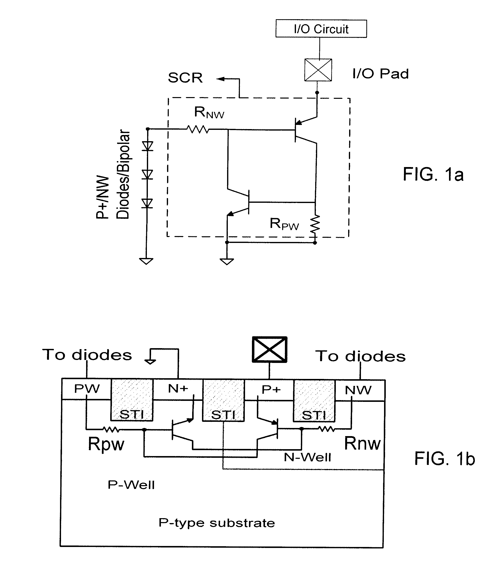 Patent Us8634172 Silicon Controlled Rectifier Based Electrostatic Esd Design Onchip With Mixedmode Circuit Simulation Drawing