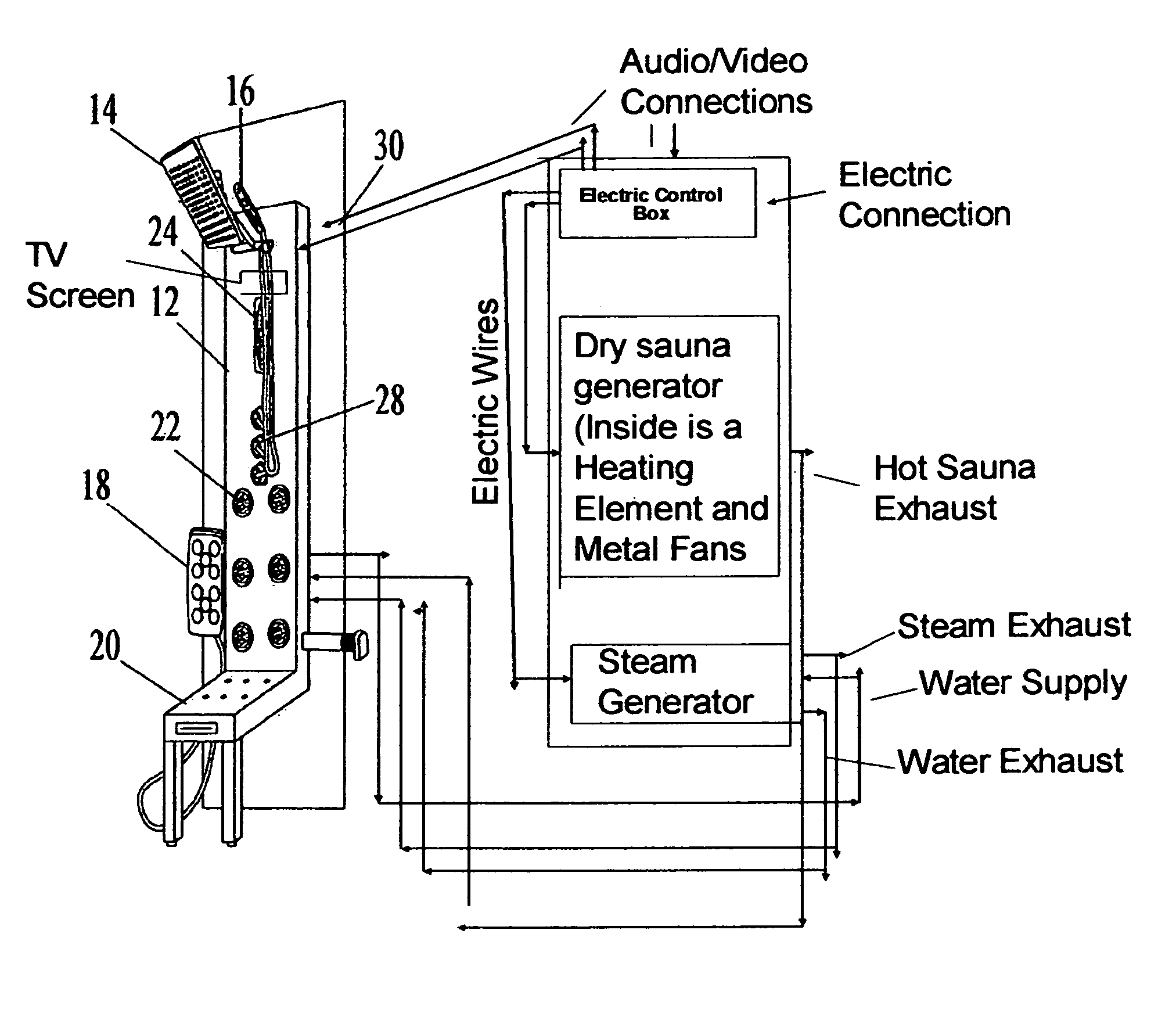 Patent Us8646121 Steam And Sauna Shower Panel Google