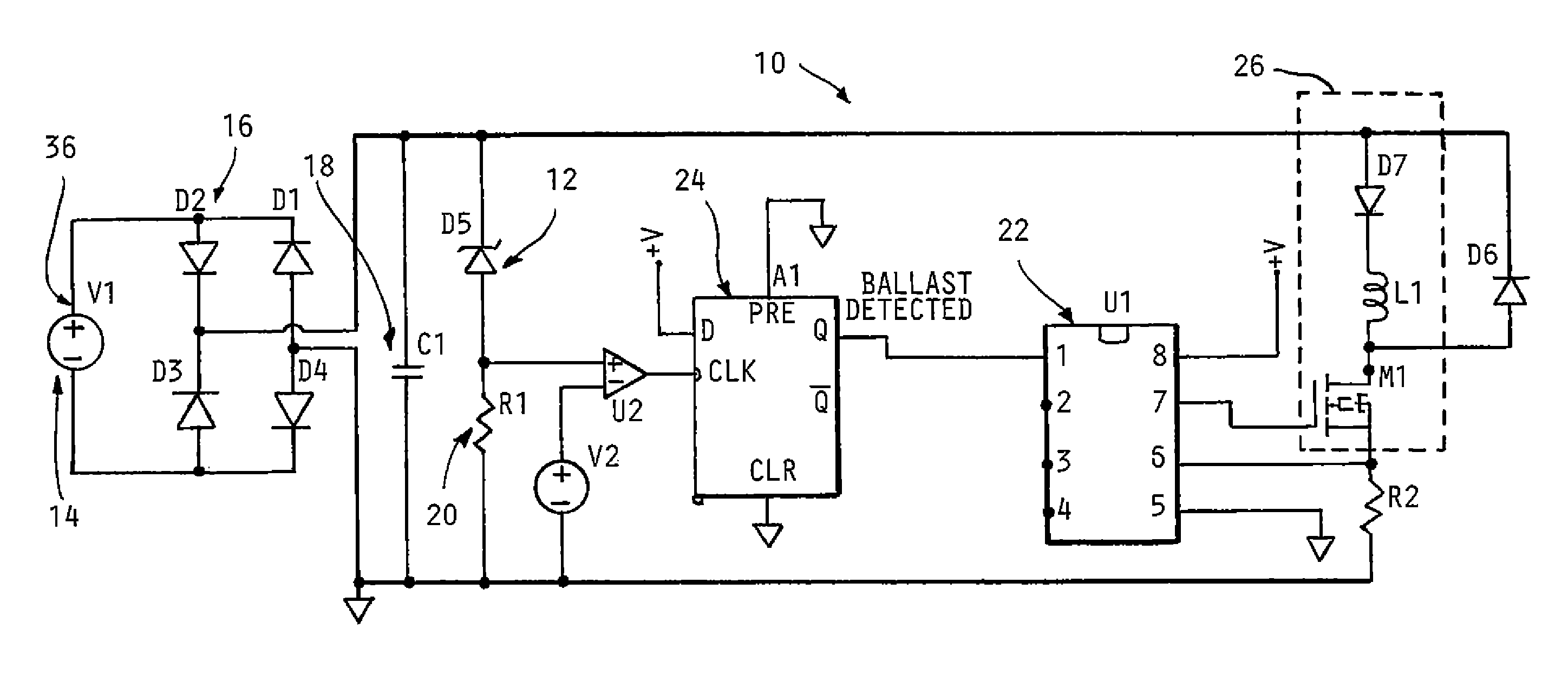 patent us8664880  line detection circuit for