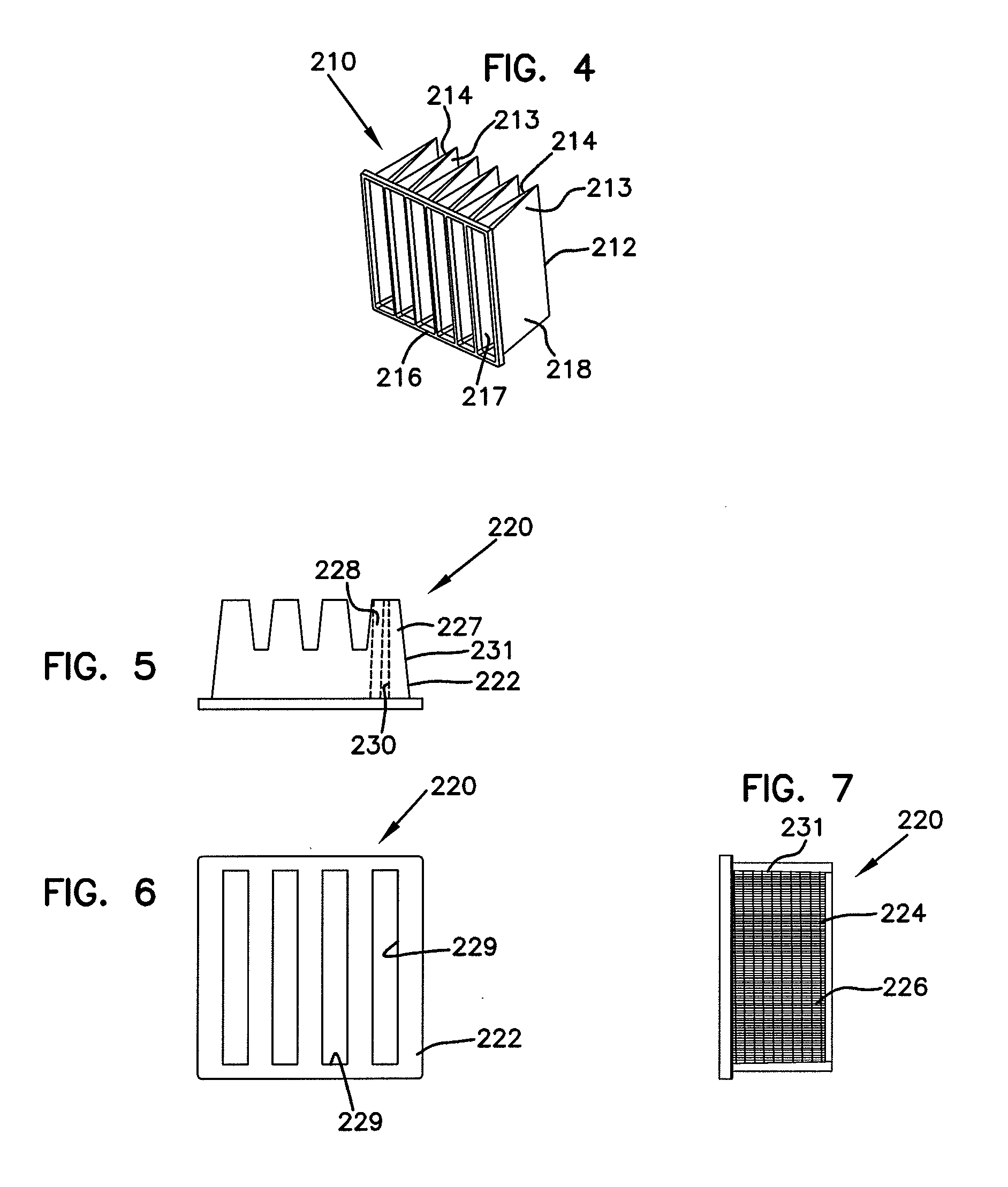Patent US Filter construction for use with air in take