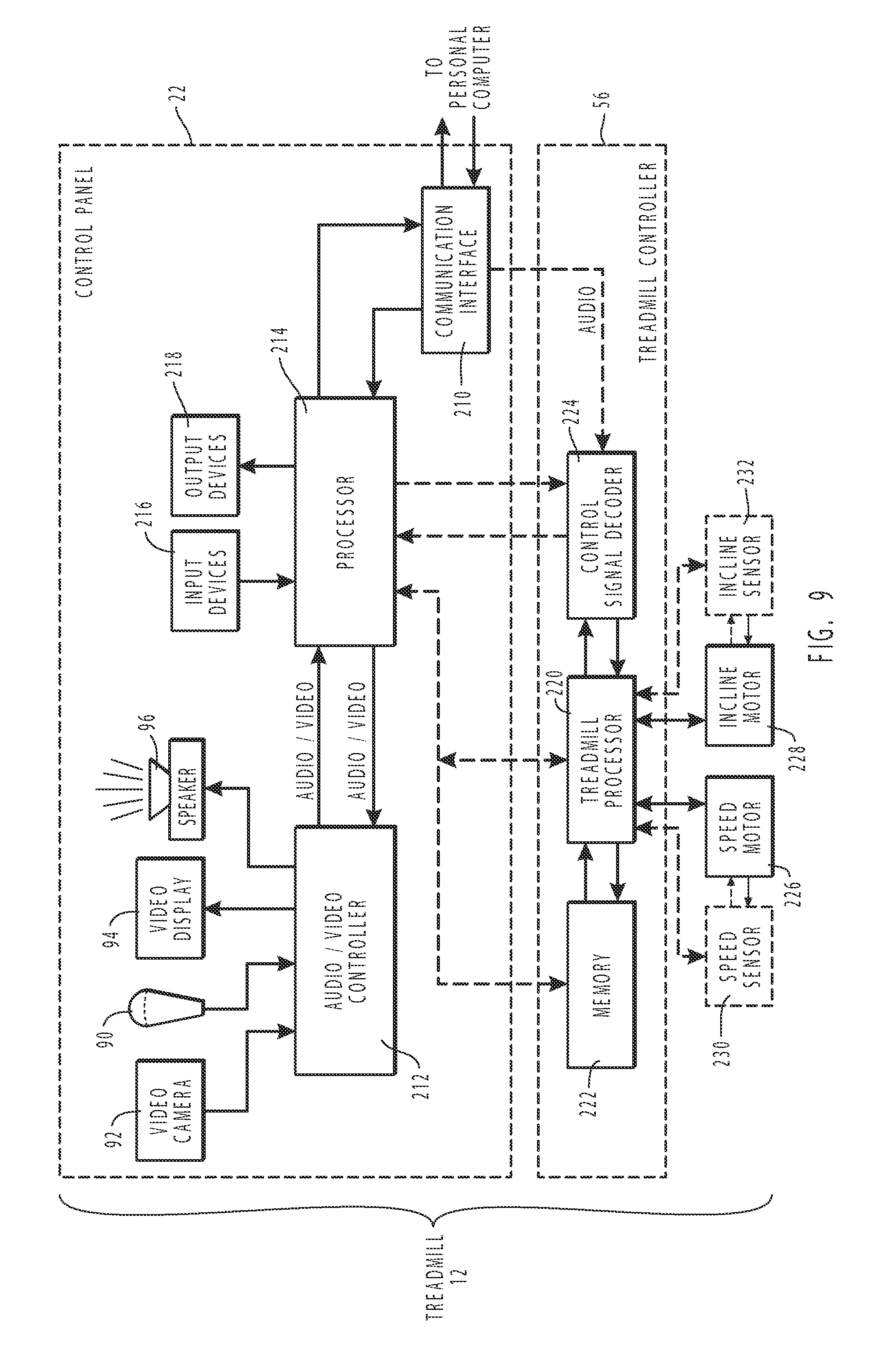 Patent Us8690735 Systems For Interaction With Exercise Device Schematics Depot Tm Ultrasonic Switch Circuit Drawing