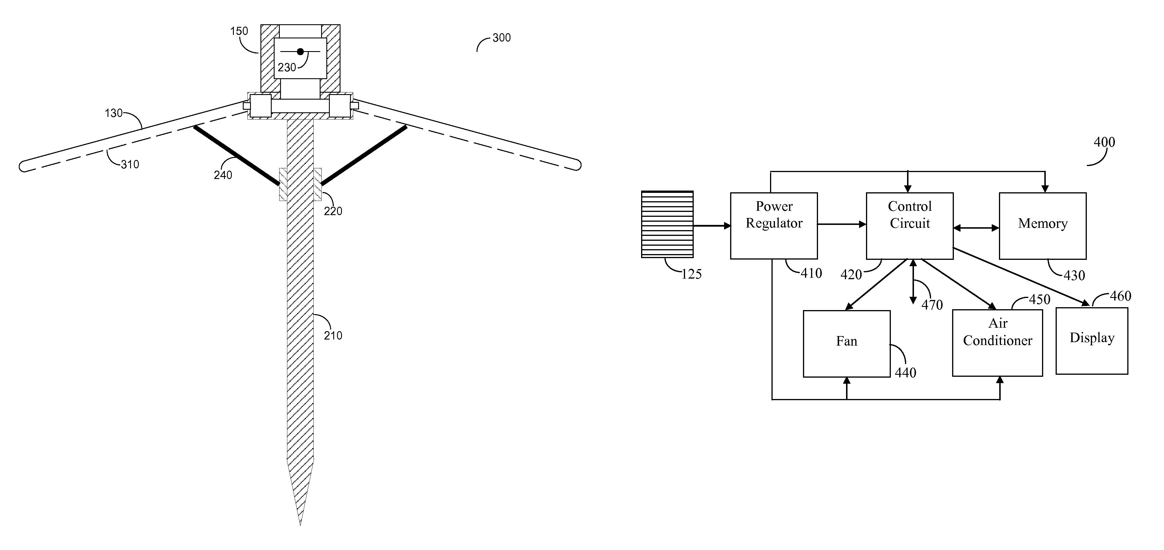 patent us8695614 - air cooled umbrella