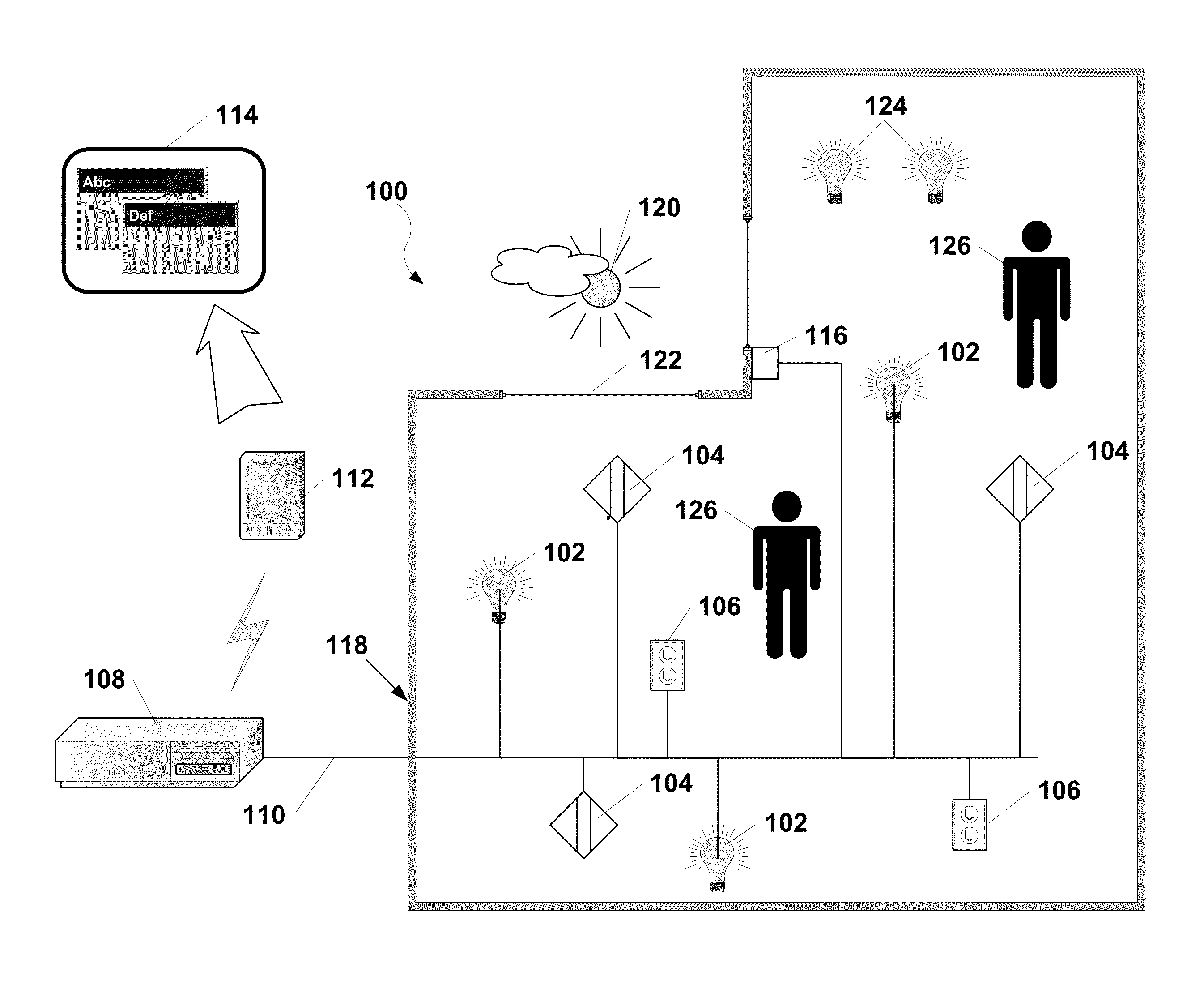 Patent Us8706310 Goal Based Control Of Lighting Google Patents Genlyte Controls Exit Sign Wiring Diagram Drawing