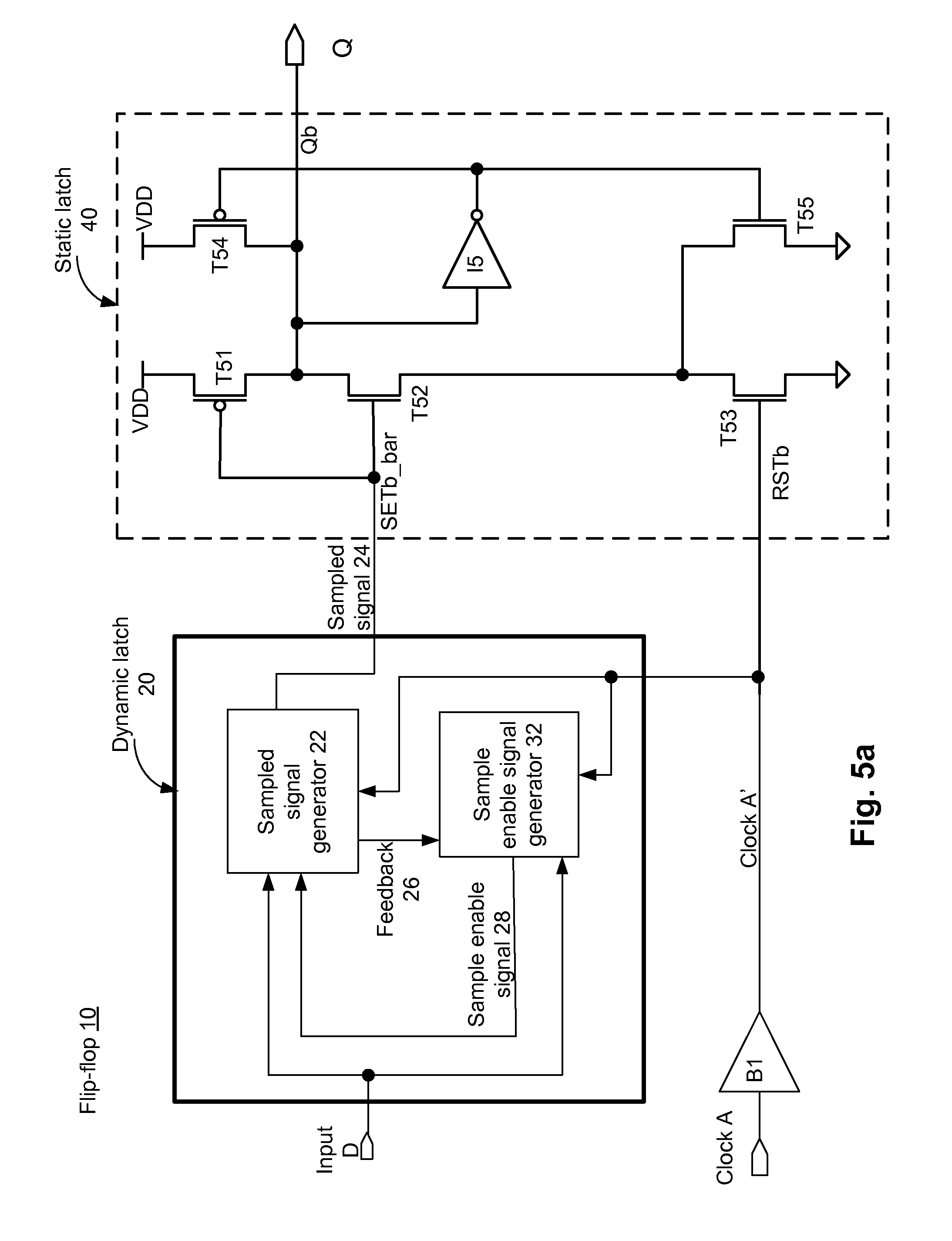 Patent Us8729942 Race Free Semi Dynamic D Type Flip Flop Google This Circuit Is Referred To As A Dominant On Latching Drawing