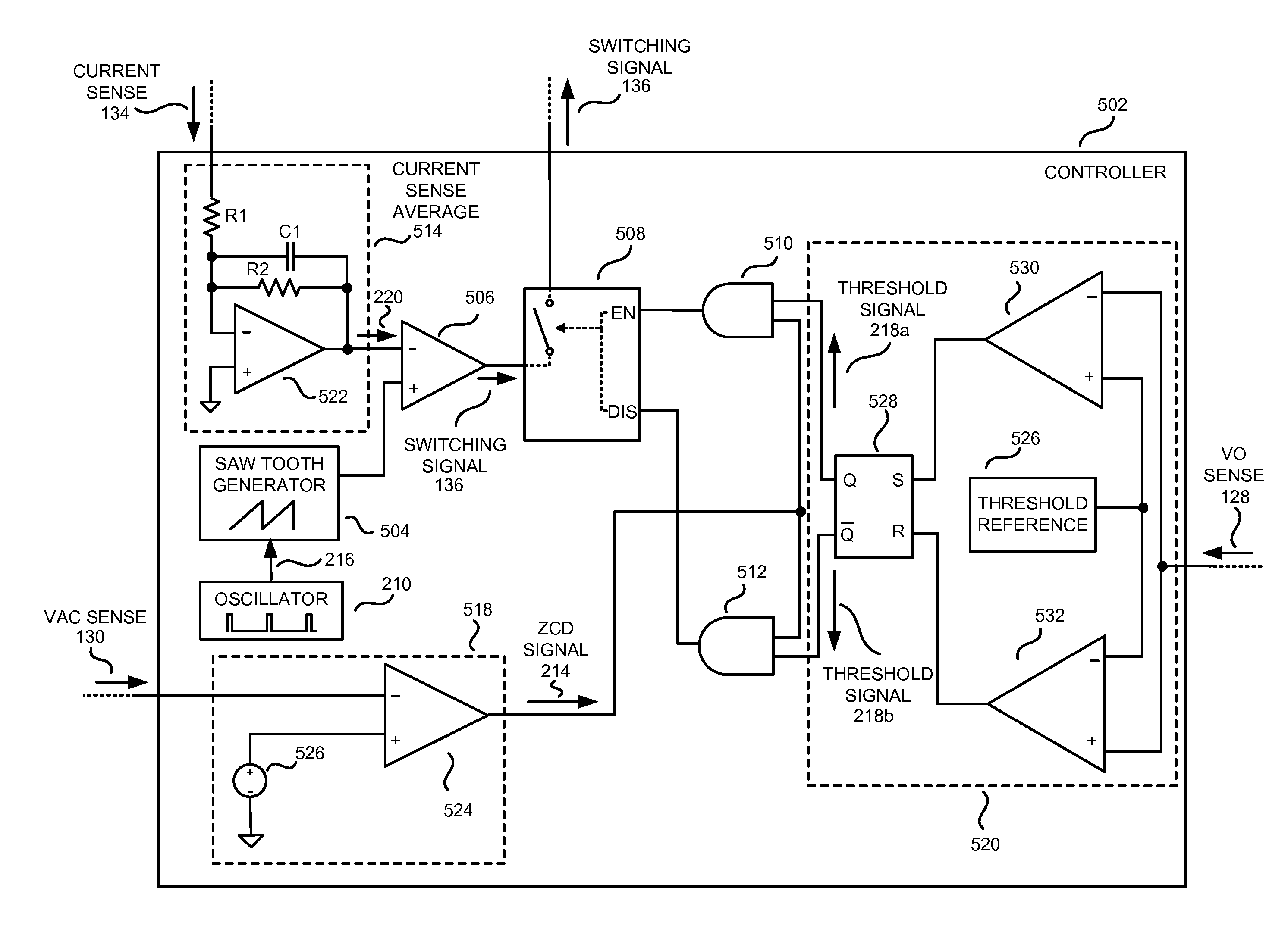 Patent Us8736237 Controller With Punctuated Switching Control Audio Signal Detector Switch Circuit Controlcircuit Drawing