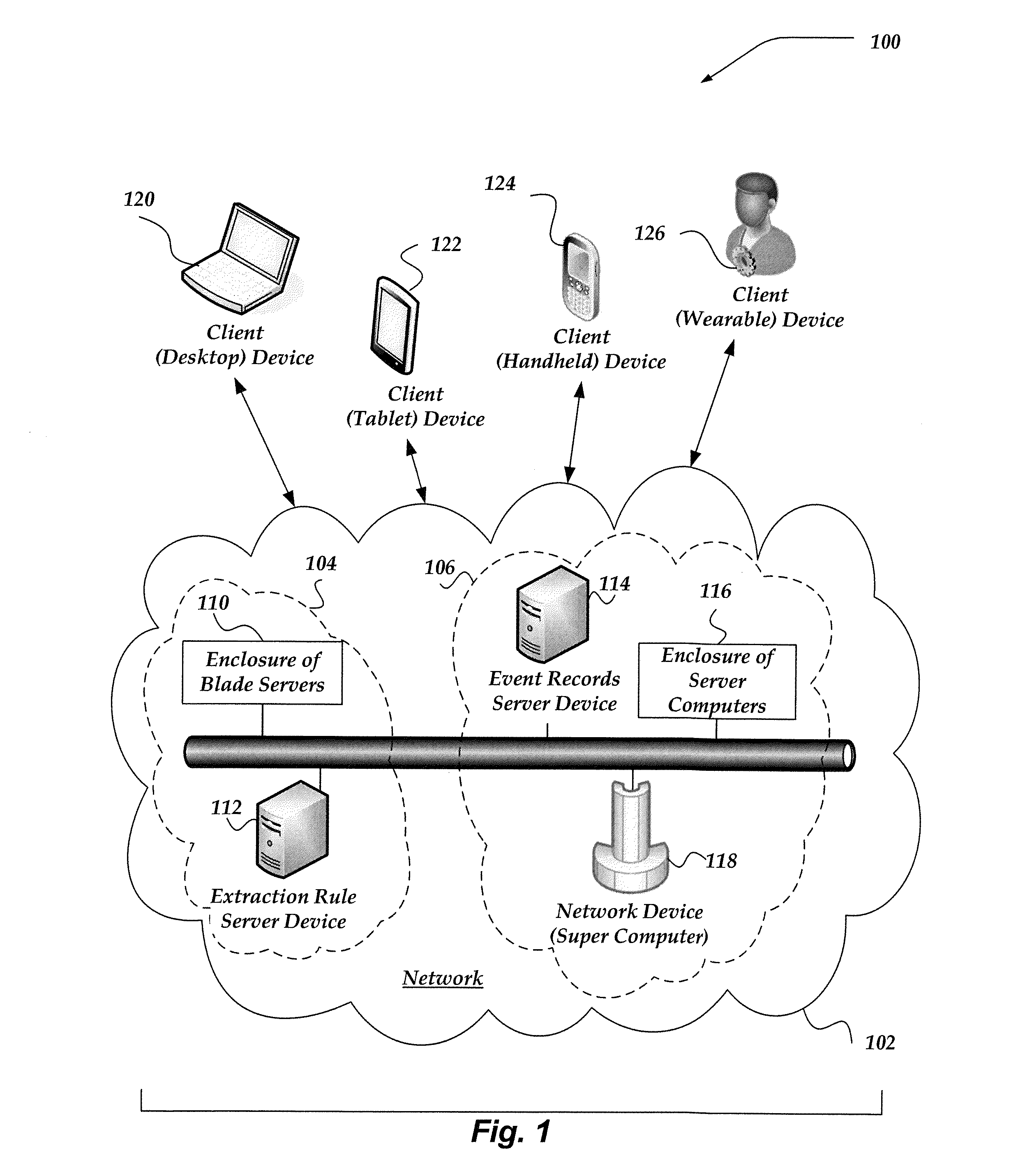patent us8751963 real time indication of previously extracted data Splunk Servers Diagram patent drawing