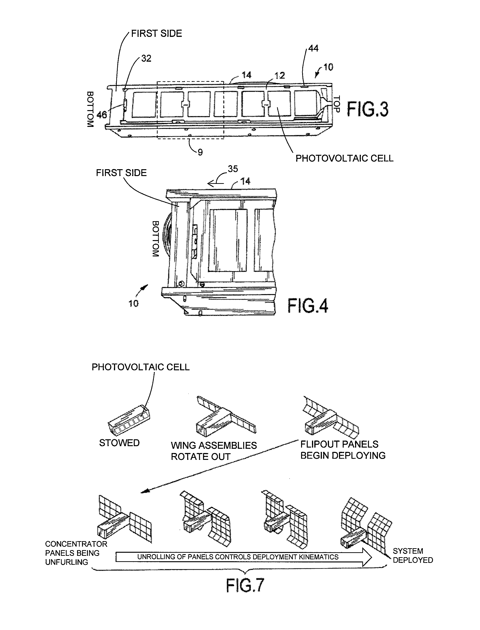Patent Us8757554 Deployable And Tracked Solar Array