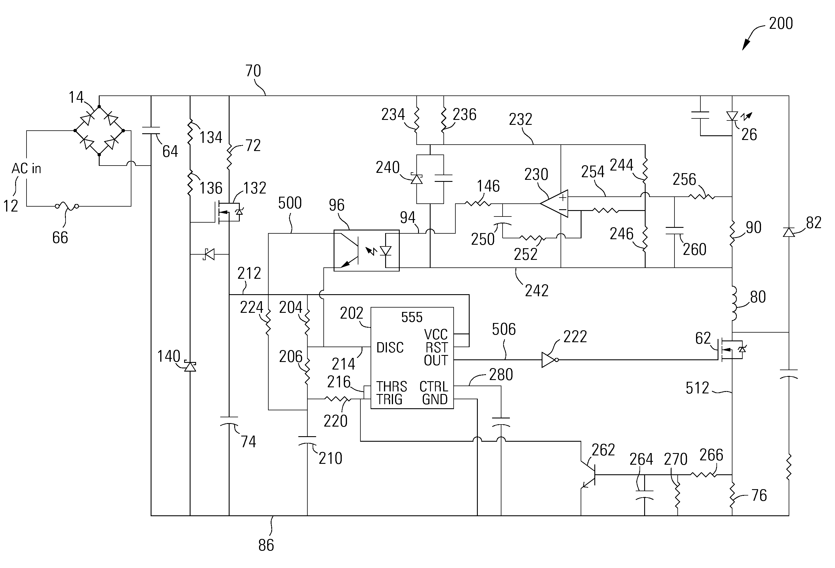 Us8773031 Dimmable Timer Based Led Power Supply Simple 555 Circuits Furthermore Astable Circuit Patent Drawing
