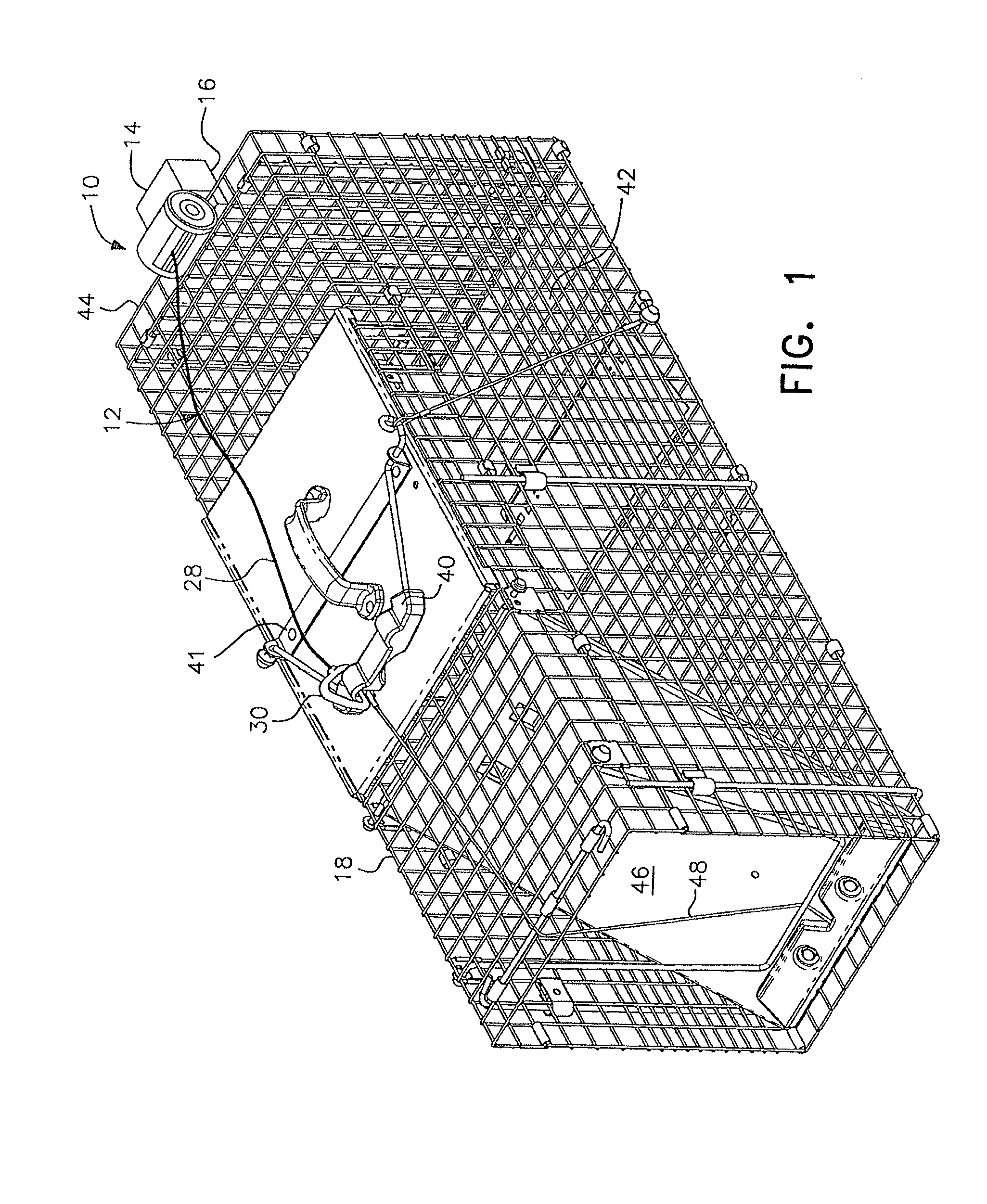 Patent Us8776430 Remote Controlled Cage Trap Door