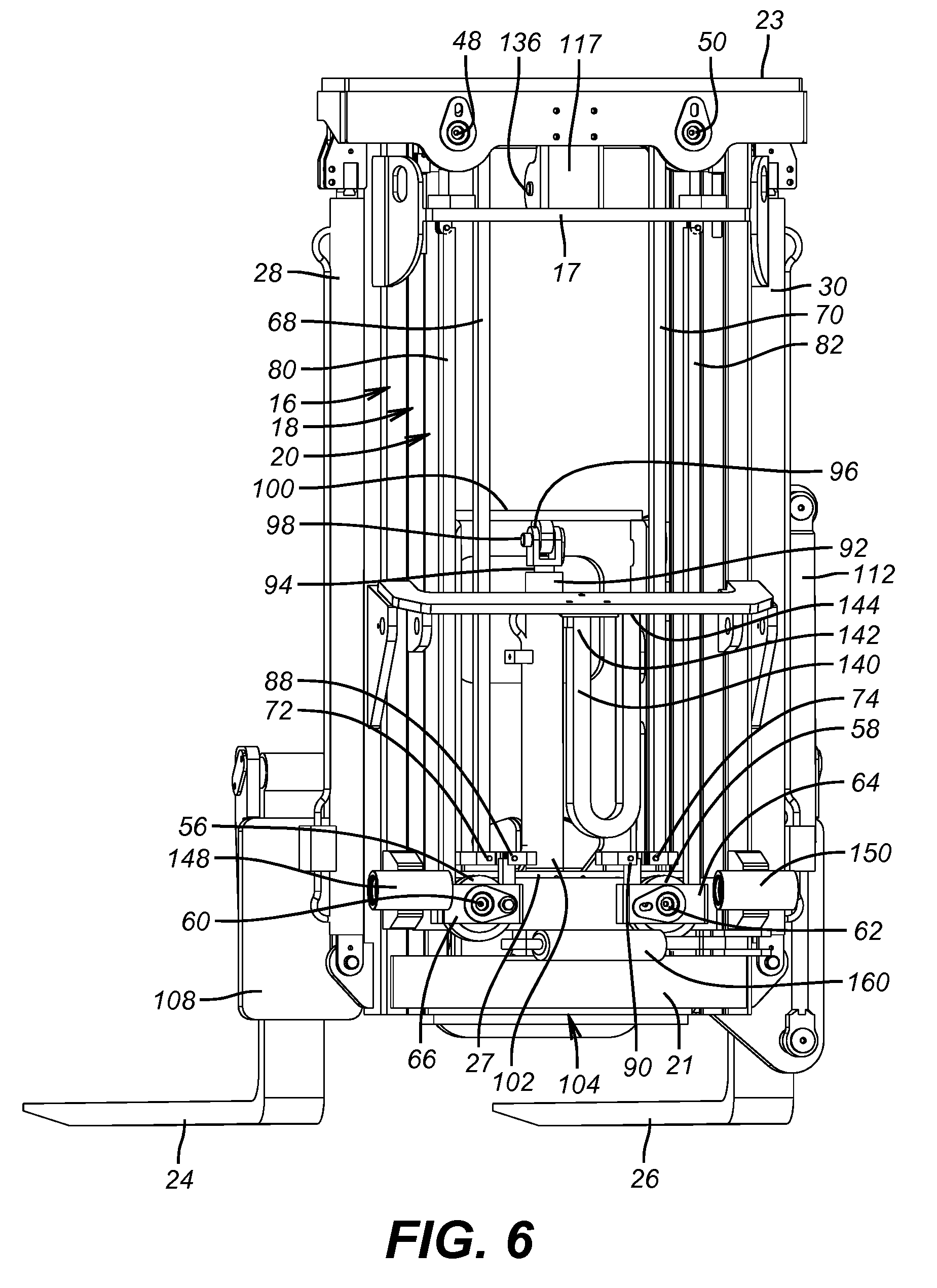 Patent US8777545 - Free lift mast for truck mounted ...