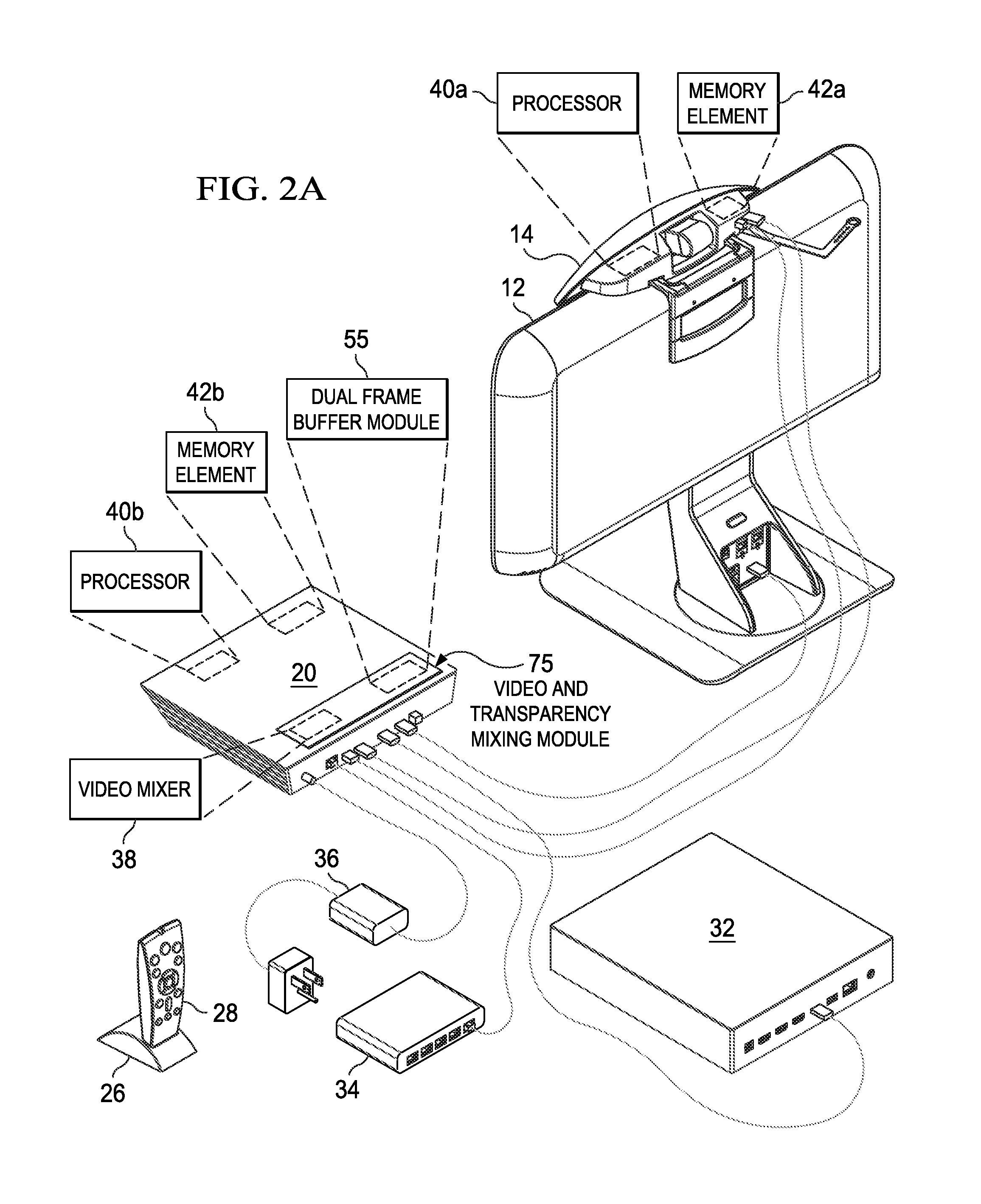 patent us8786631 system and method for transferring transparency  patent drawing