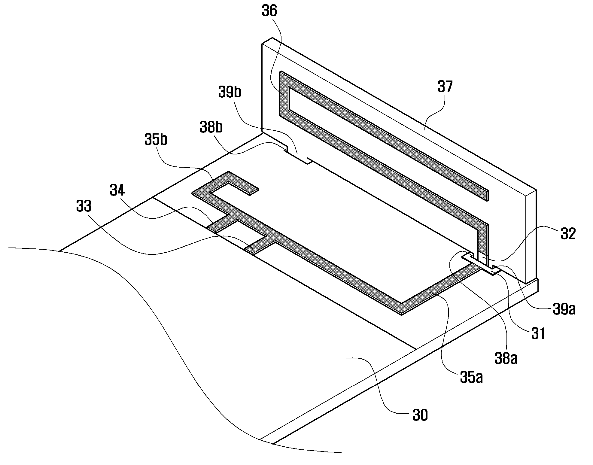 patent us8791863 - built-in printed circuit board antenna of mobile terminal