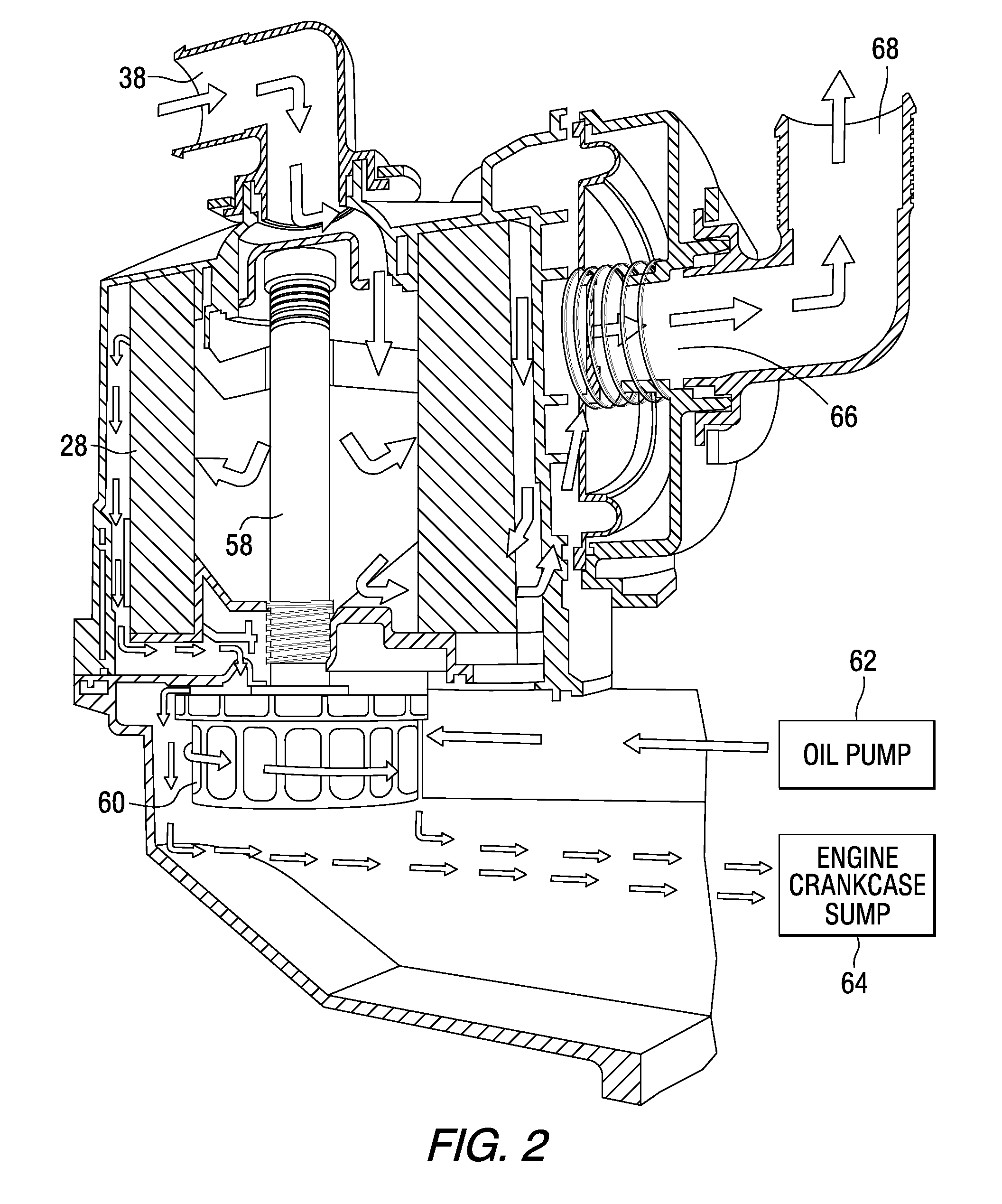 patent us8794222 - crankcase ventilation inside-out flow rotating coalescer