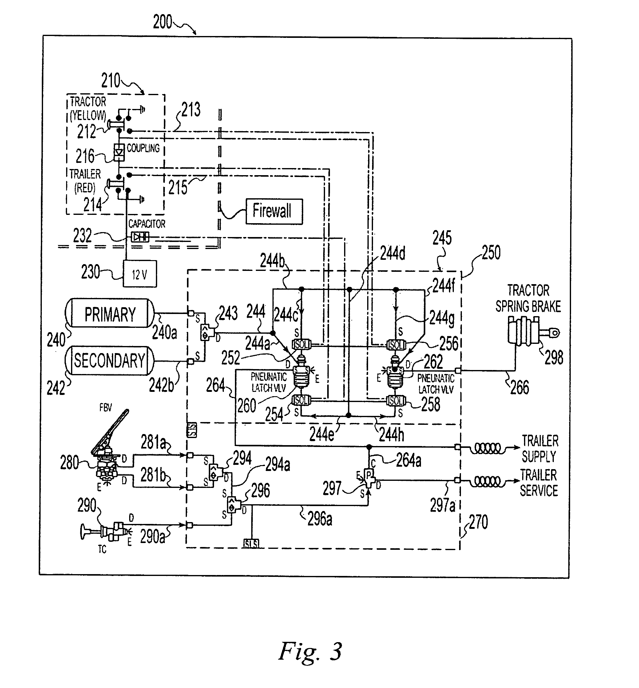 US08794715 20140805 D00003 patent us8794715 electro pneumatic latching valve system bendix trailer abs wiring diagram at bakdesigns.co